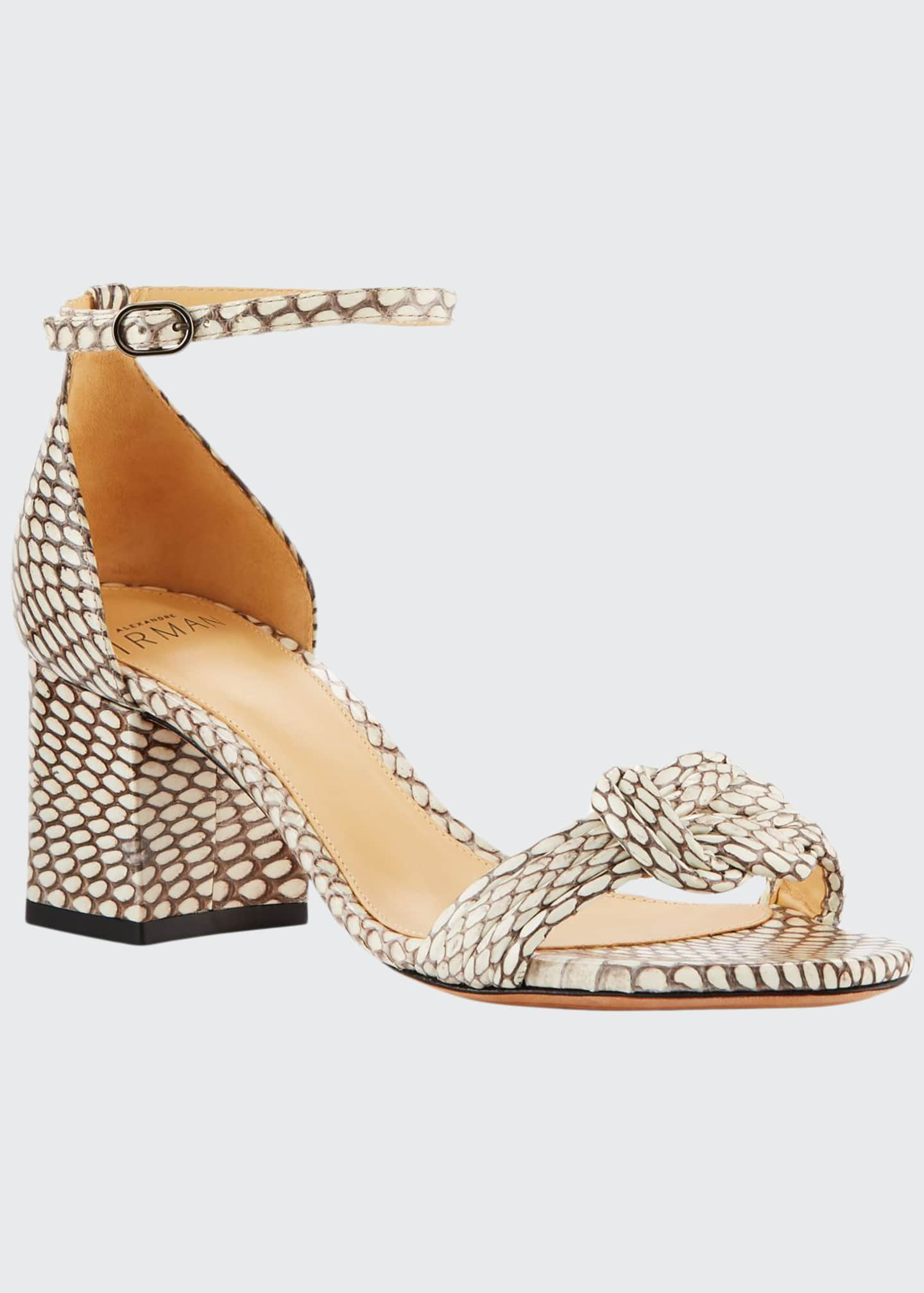 Image 1 of 3: Malica Knot Snakeskin Sandals