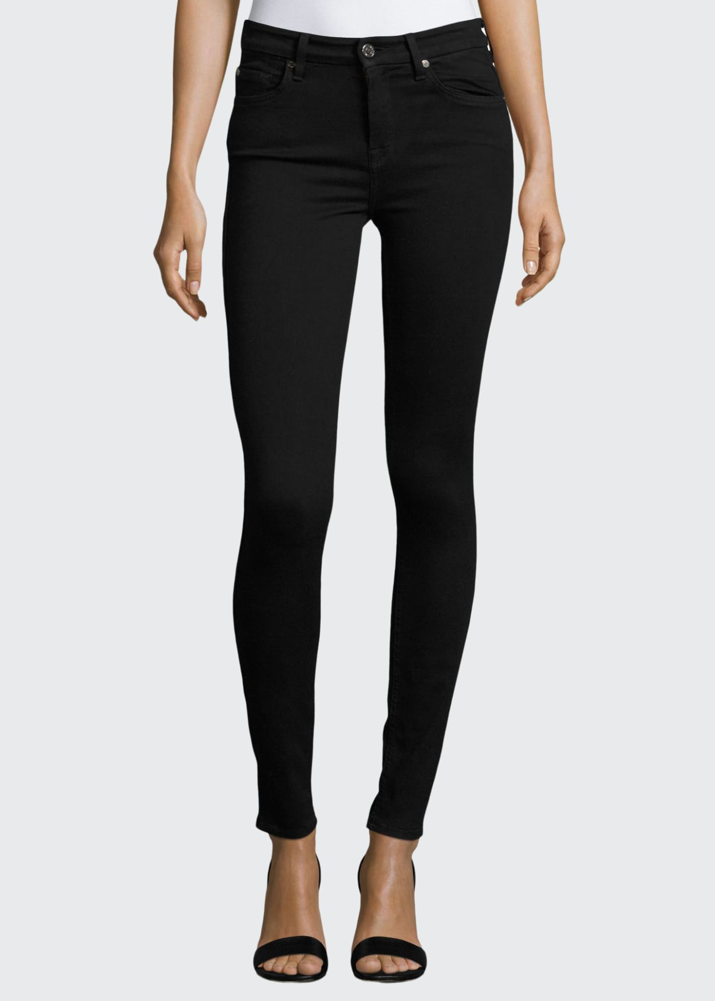 Image 1 of 3: High-Waist Skinny Jeans, Slim Illusion Luxe Black
