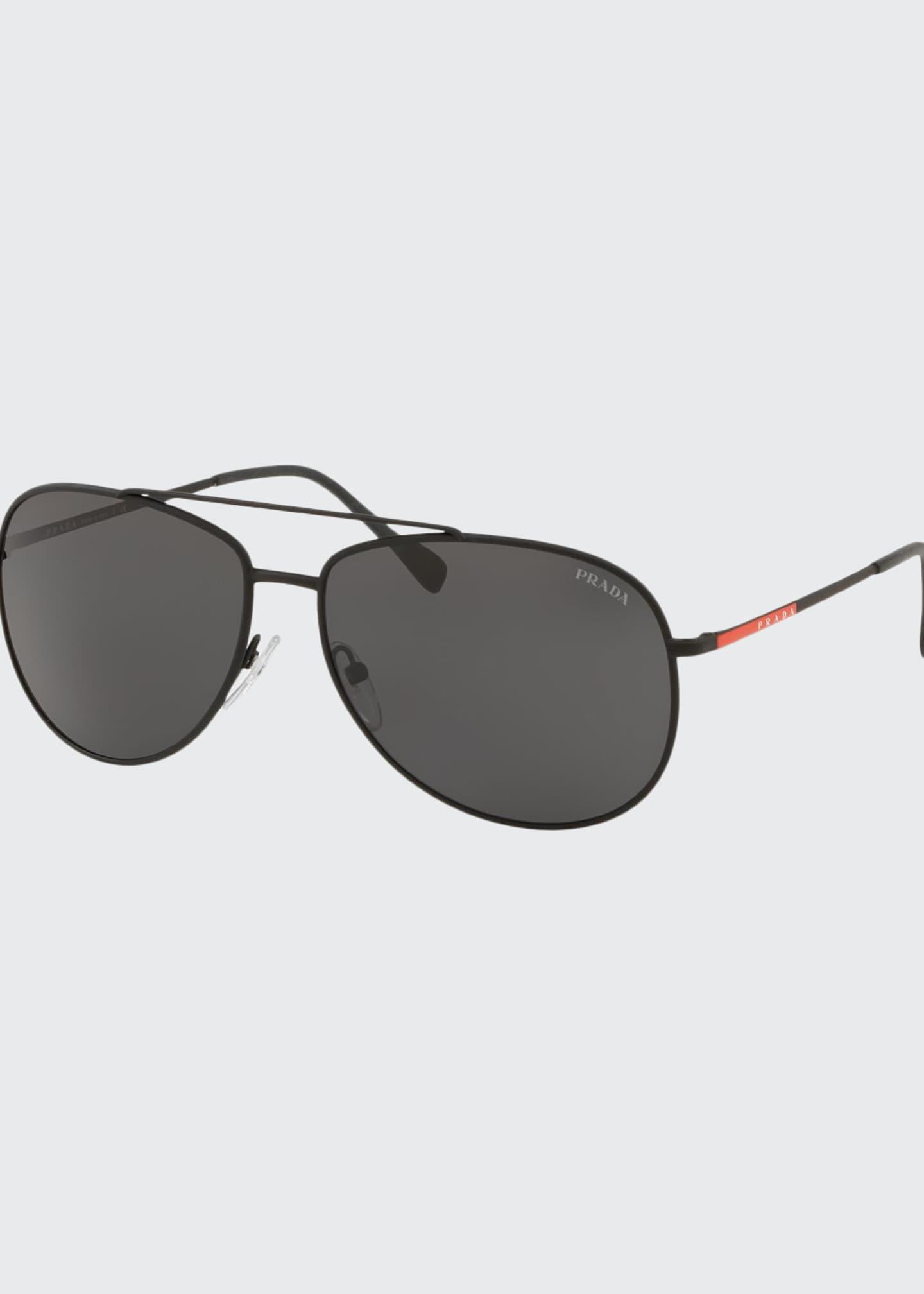 Prada Men's Metal Aviator Sunglasses