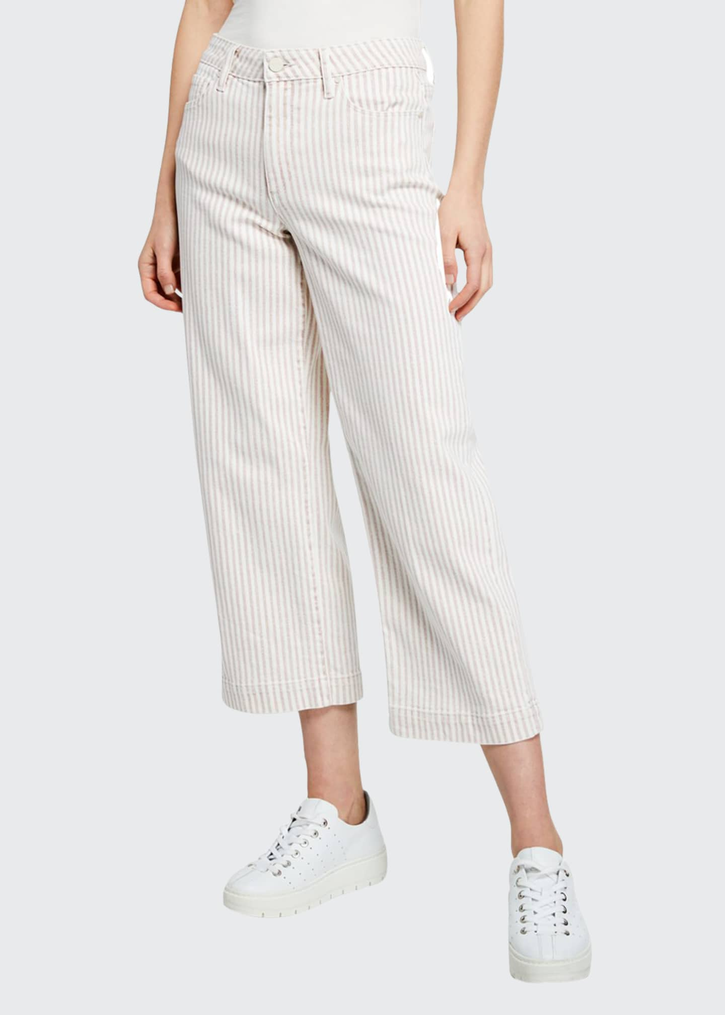Image 1 of 3: Nellie Striped Cropped Culottes