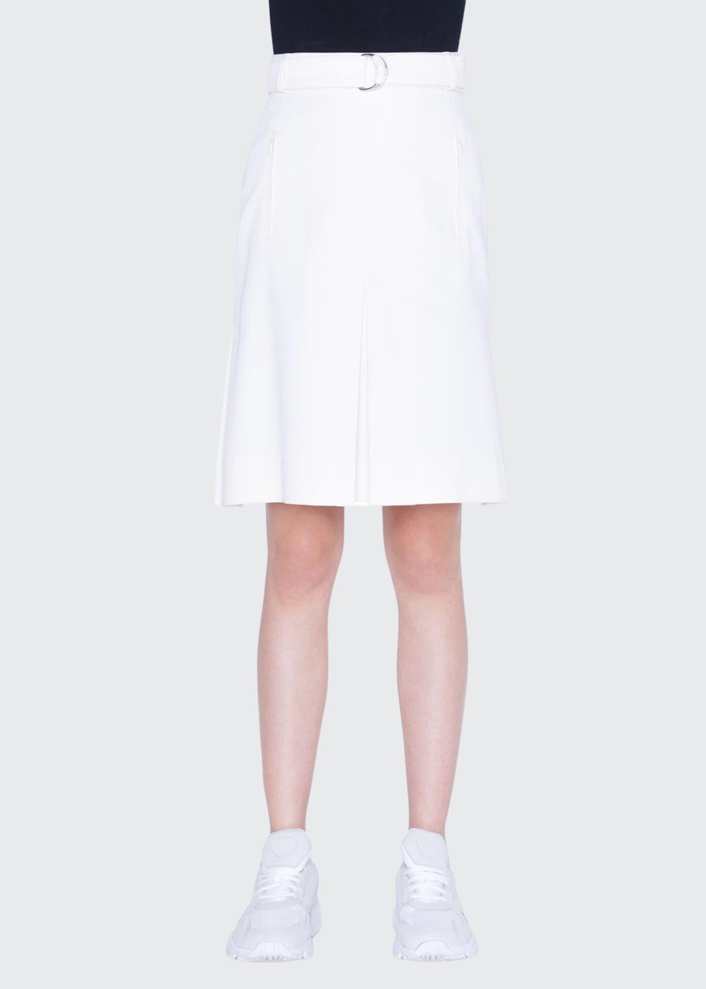 Akris punto Gabardine Cotton A-Line Skirt