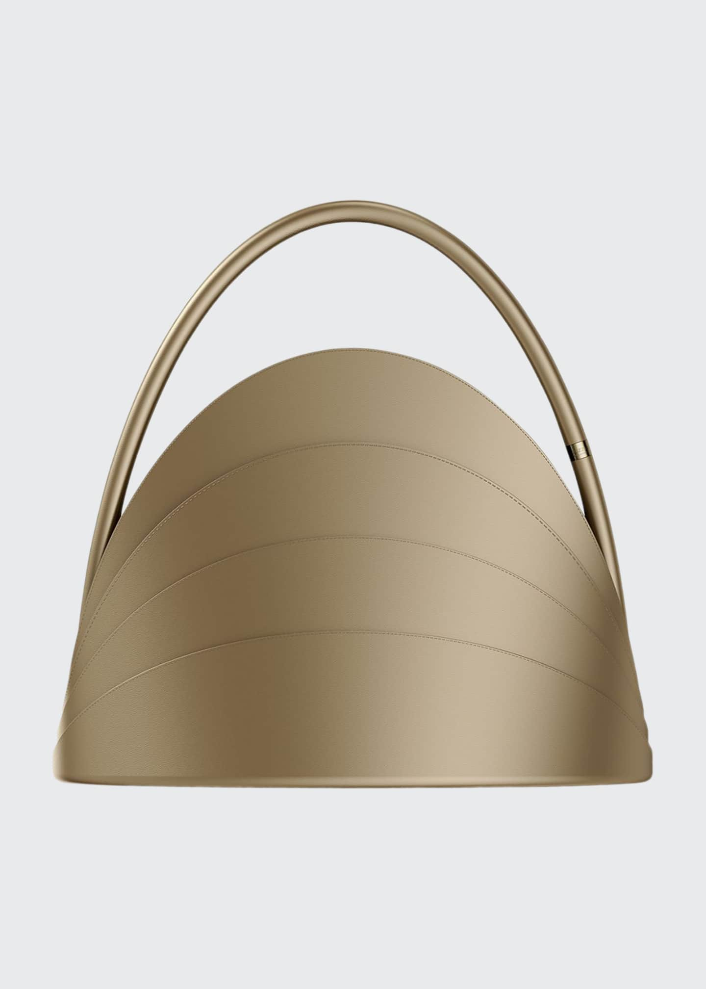 Gabo Guzzo Millefoglie Layered Top-Handle Bag, Brown