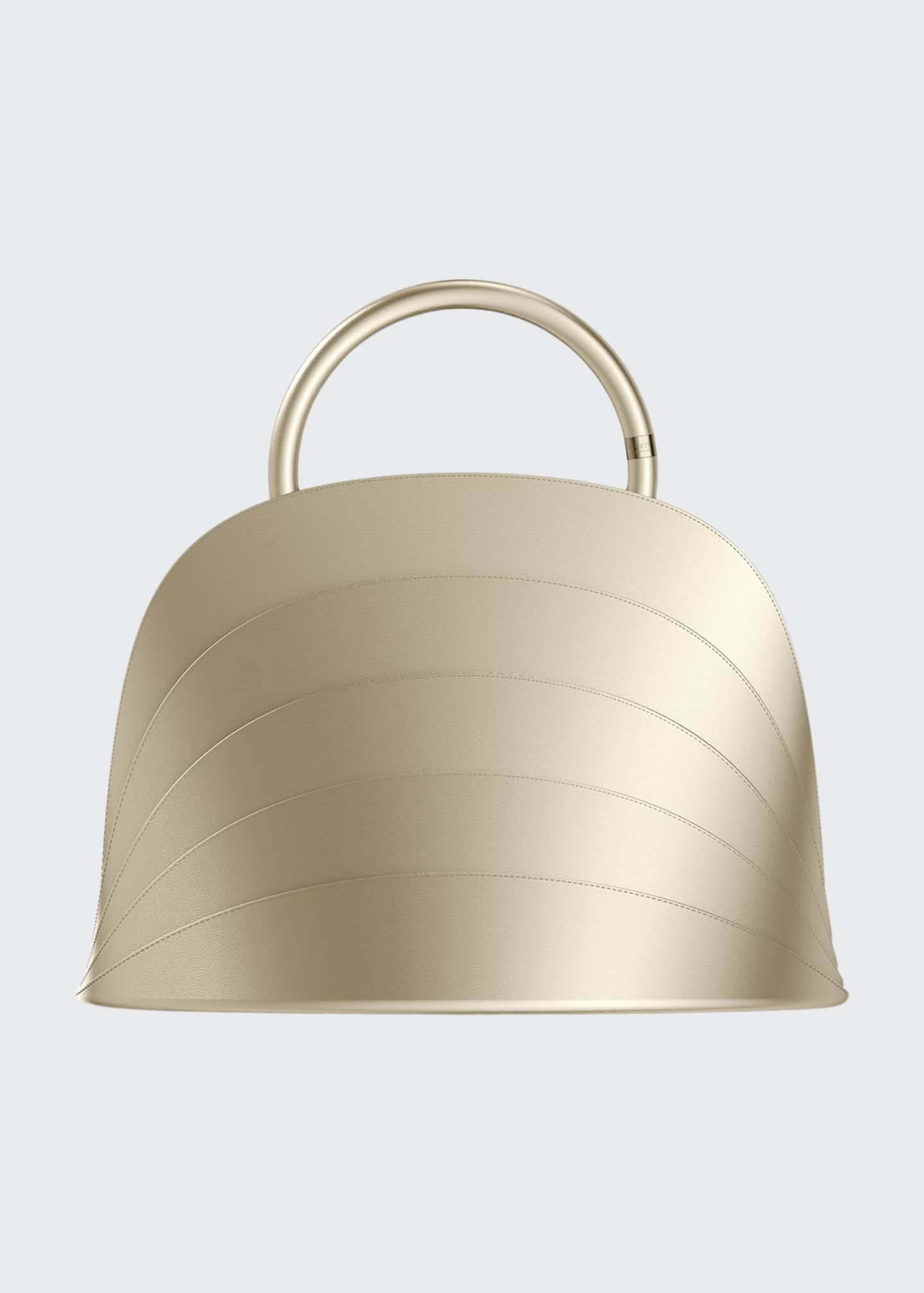 Image 1 of 3: Millefoglie J Layered Top Handle Bag, Gold
