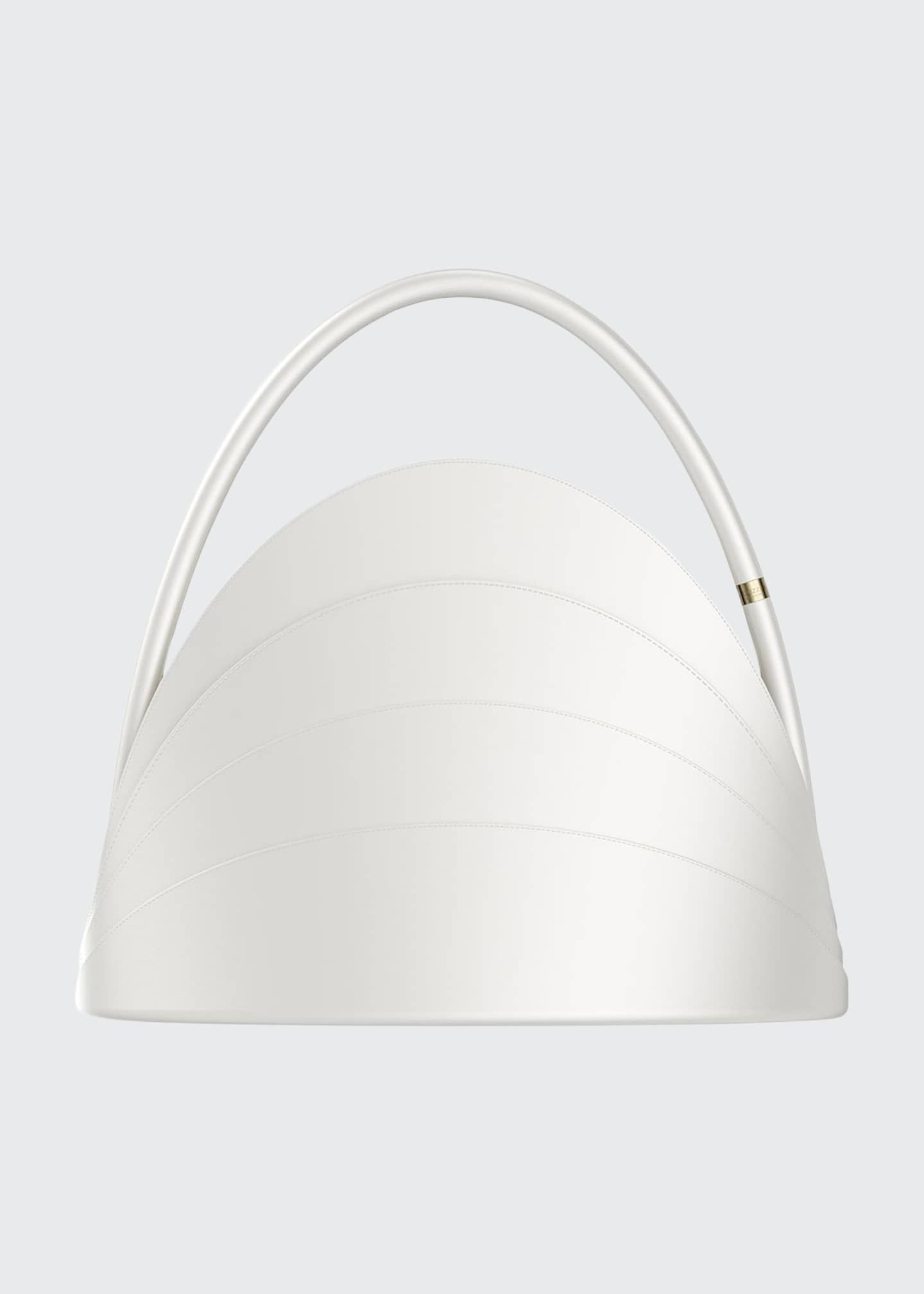 Gabo Guzzo Millefoglie Layered Top-Handle Bag, White