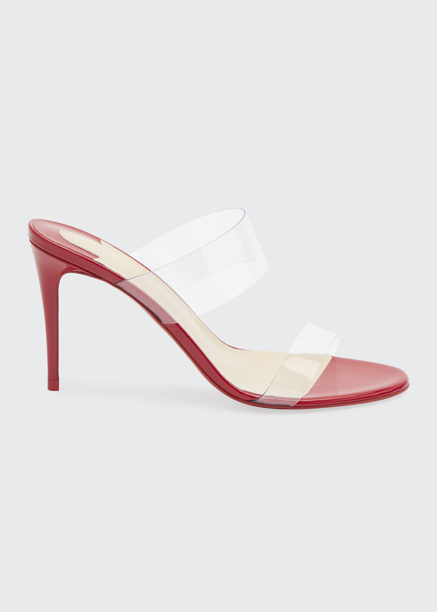 Christian Louboutin Just Nothing Illusion Red Sole Sandals,
