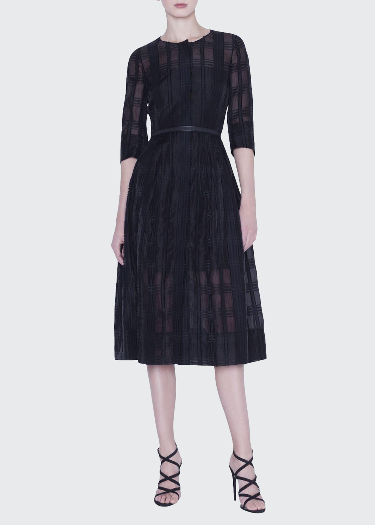 Akris Organza Check Dress