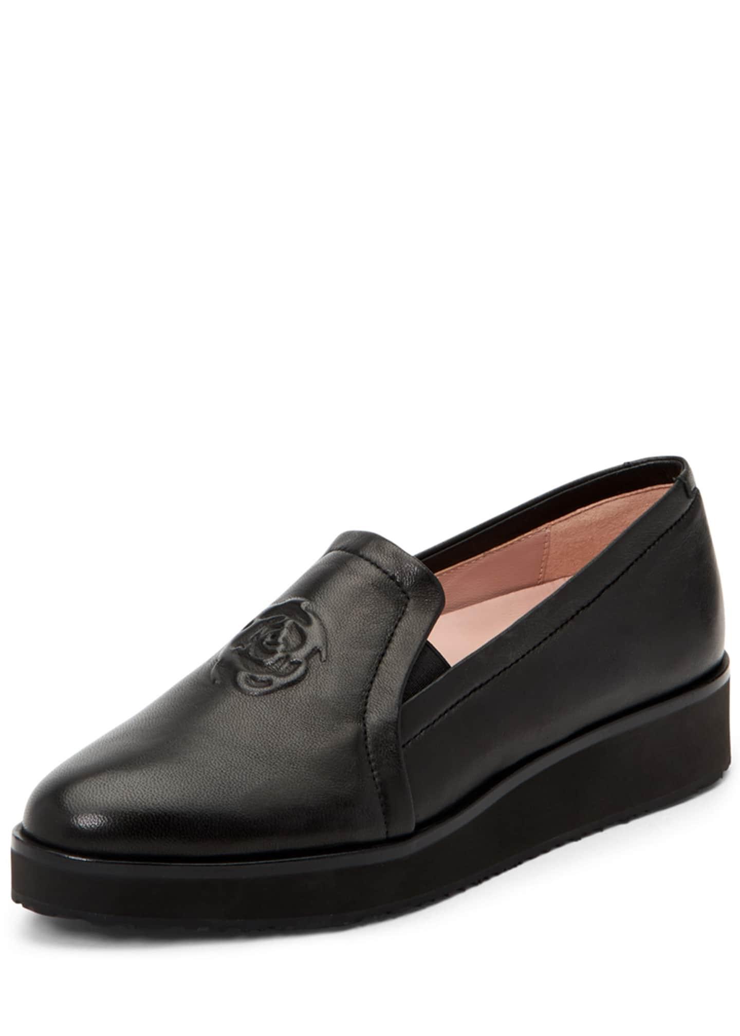Taryn Rose Collection Rafaella Embossed Low-Platform Loafers
