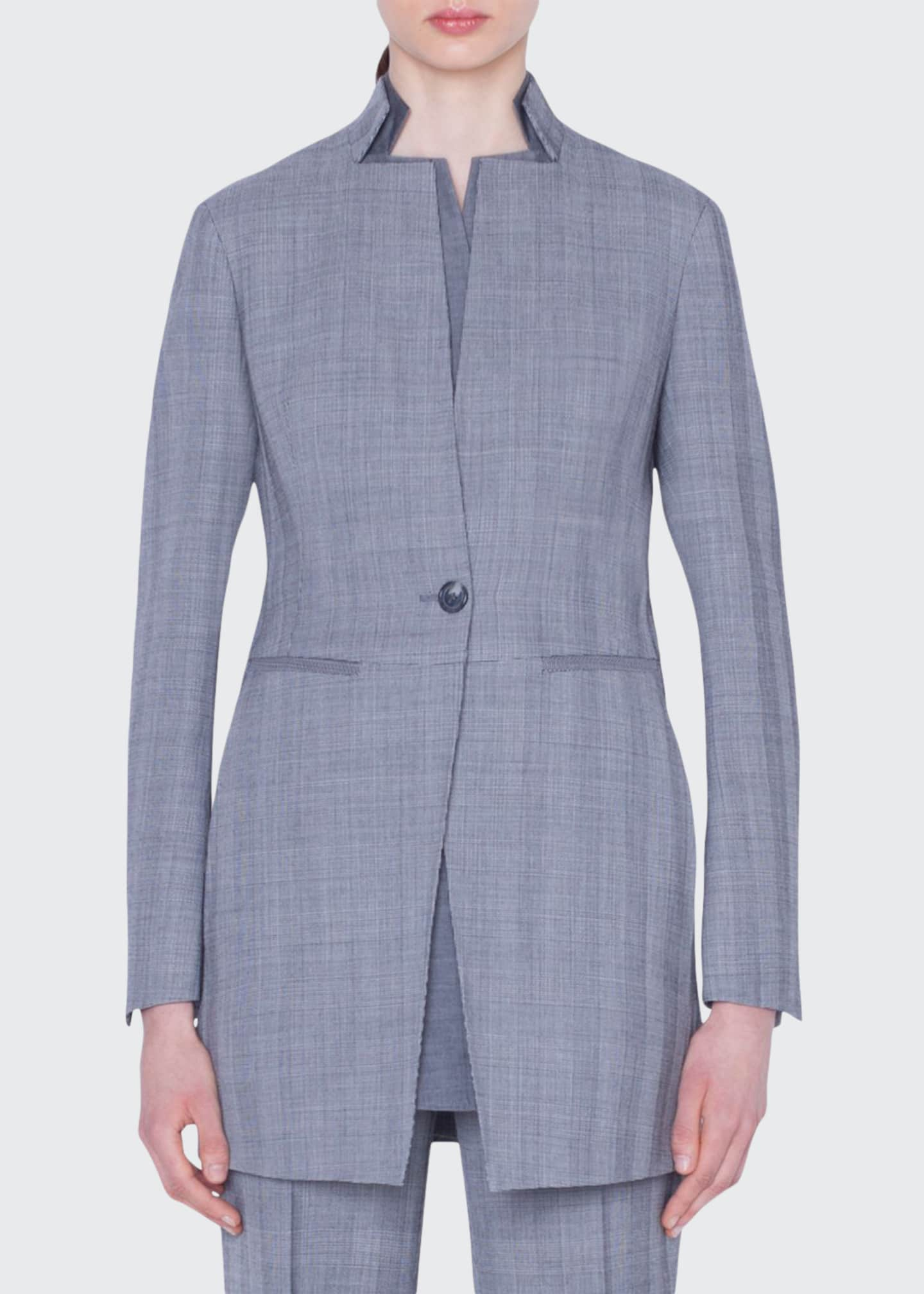 Akris Dalma Check Wool Jacket