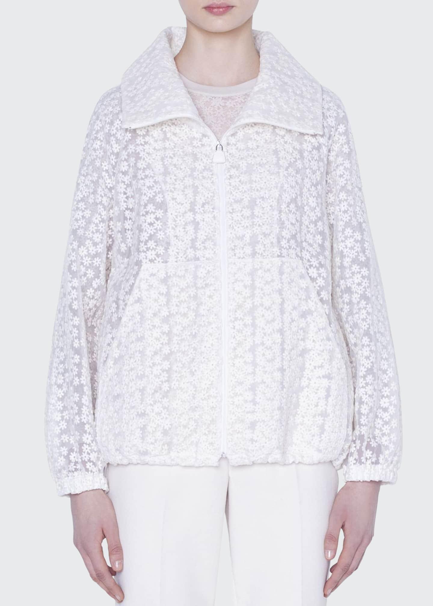 Akris Clelia Daisy Embroidered Organza Jacket