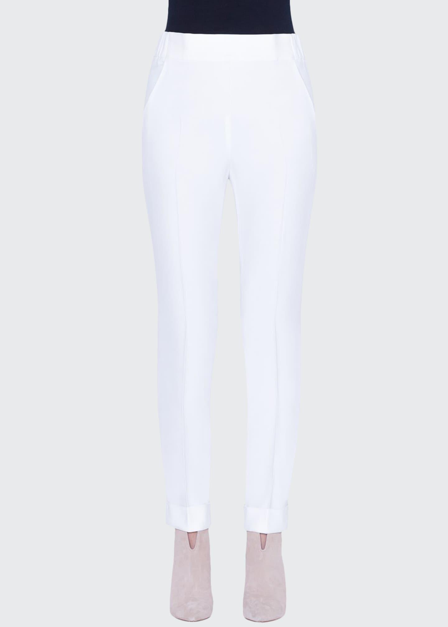 Akris Chris Crepe Conical-Leg Pants