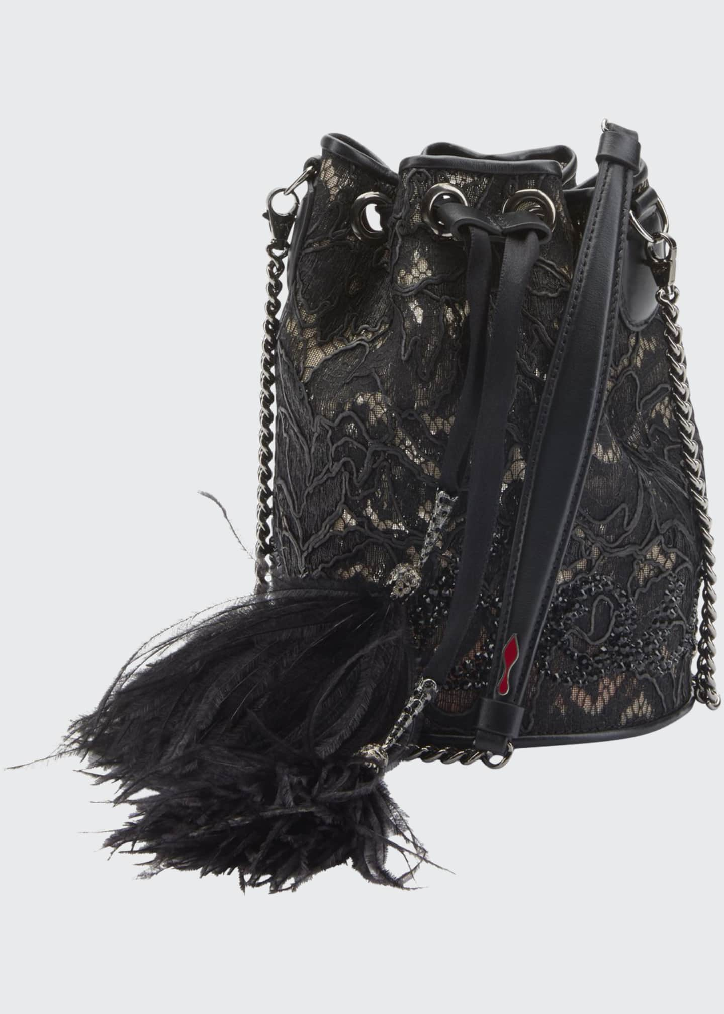 Christian Louboutin Marie Jane Dentelle Lace Bucket Bag