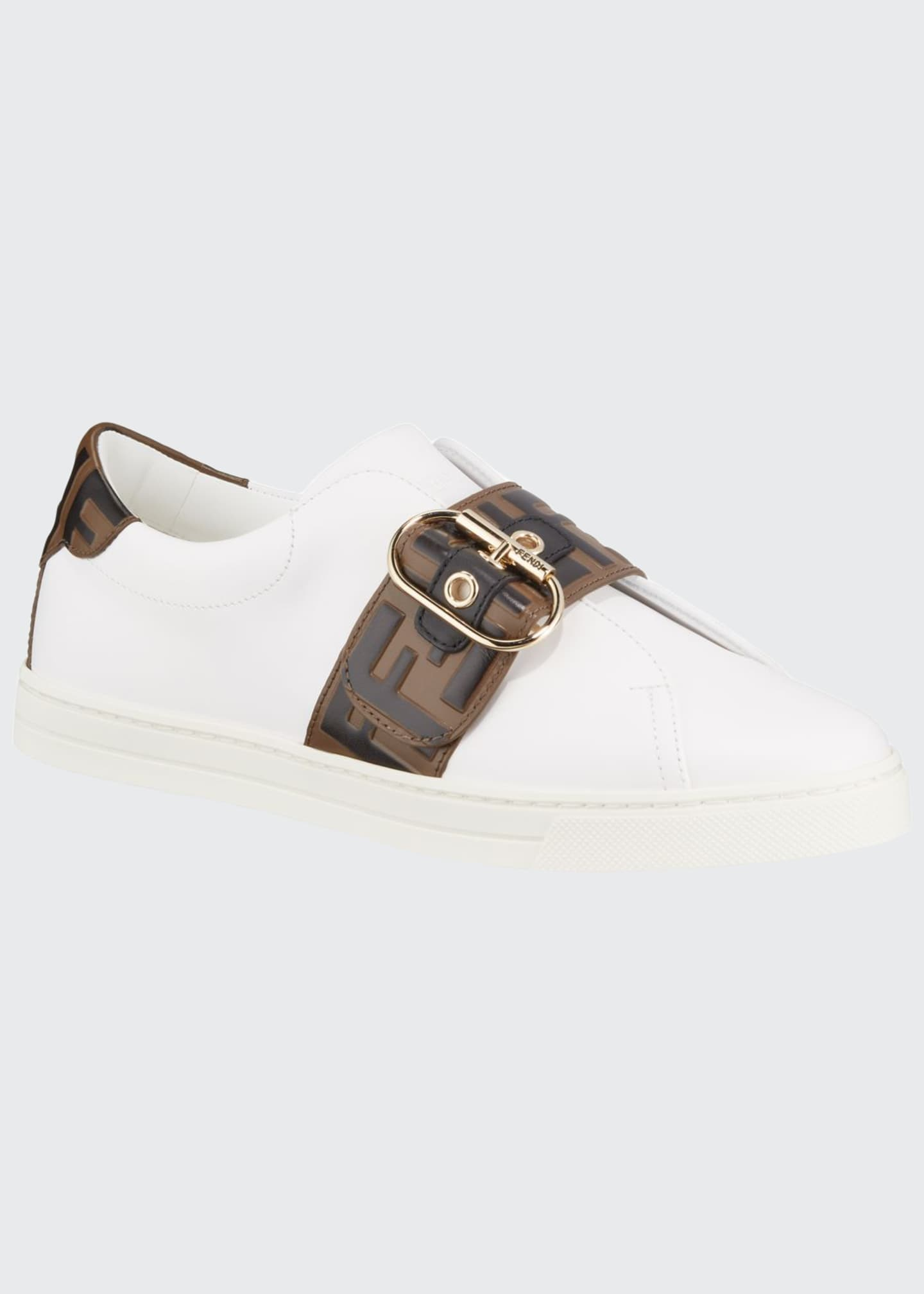 Image 1 of 4: Pearland Leather Low-Top Sneakers