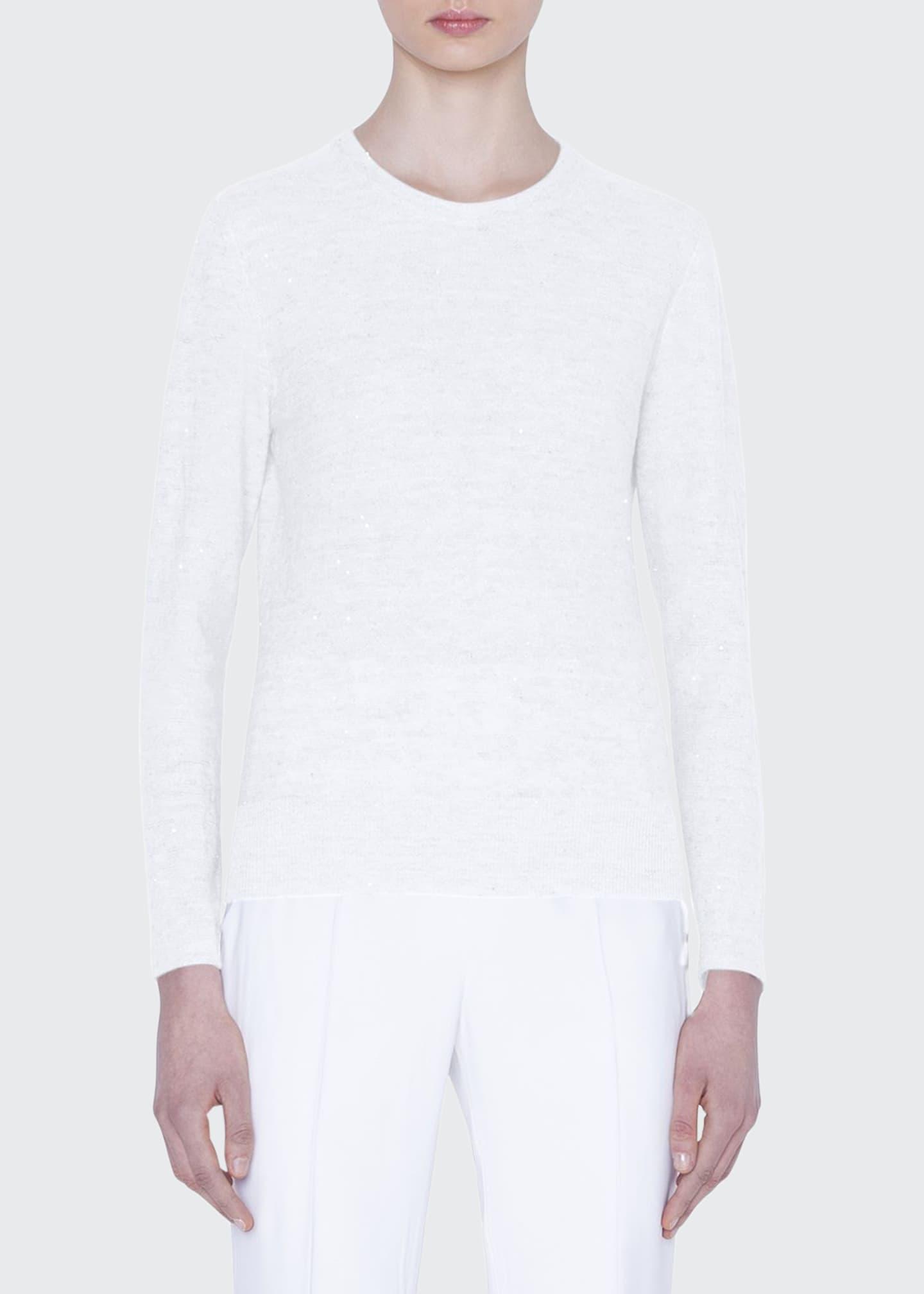 Akris Sequined Crewneck Sweater