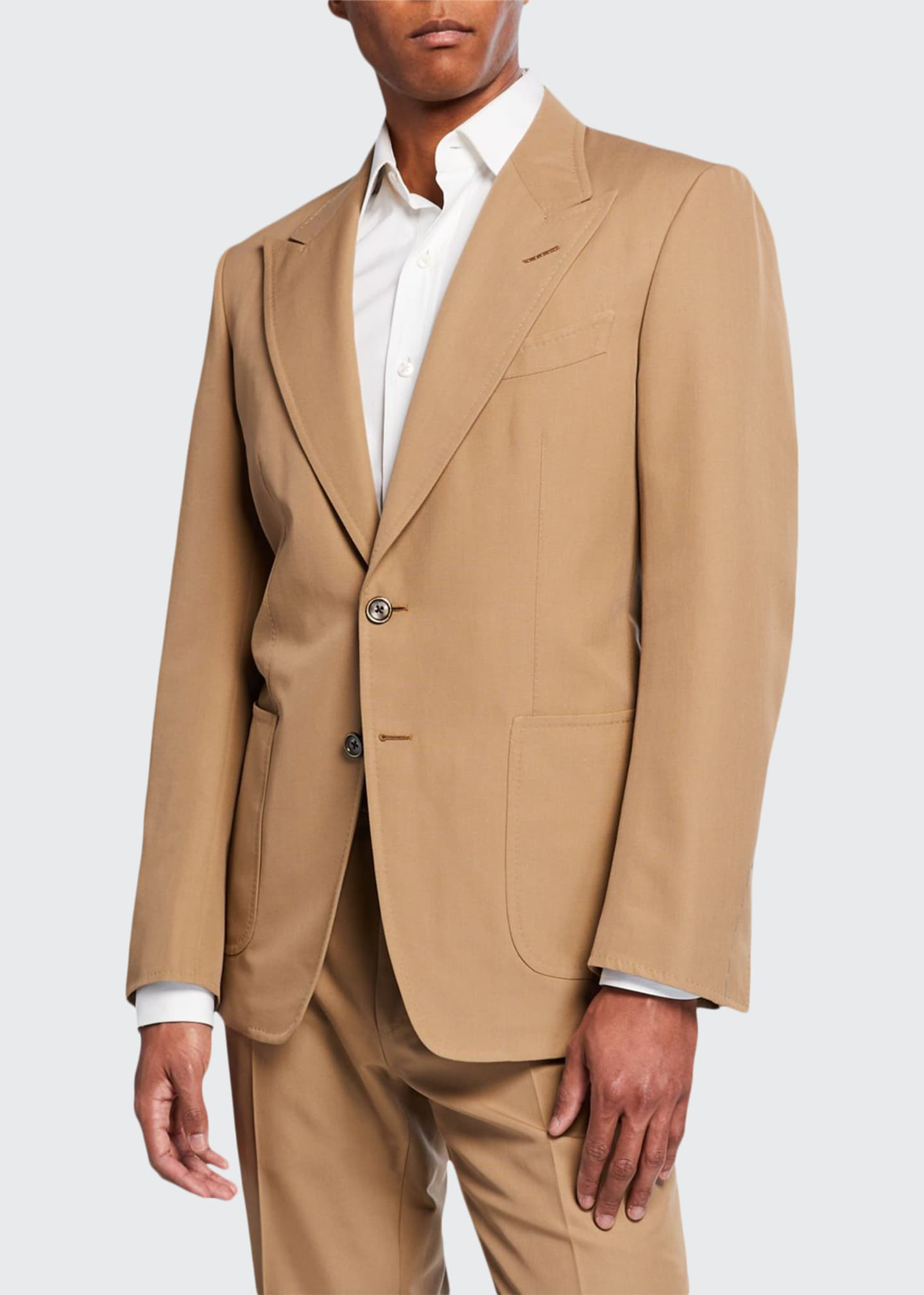 TOM FORD Men's Shelton Solid Twill Two-Button Jacket
