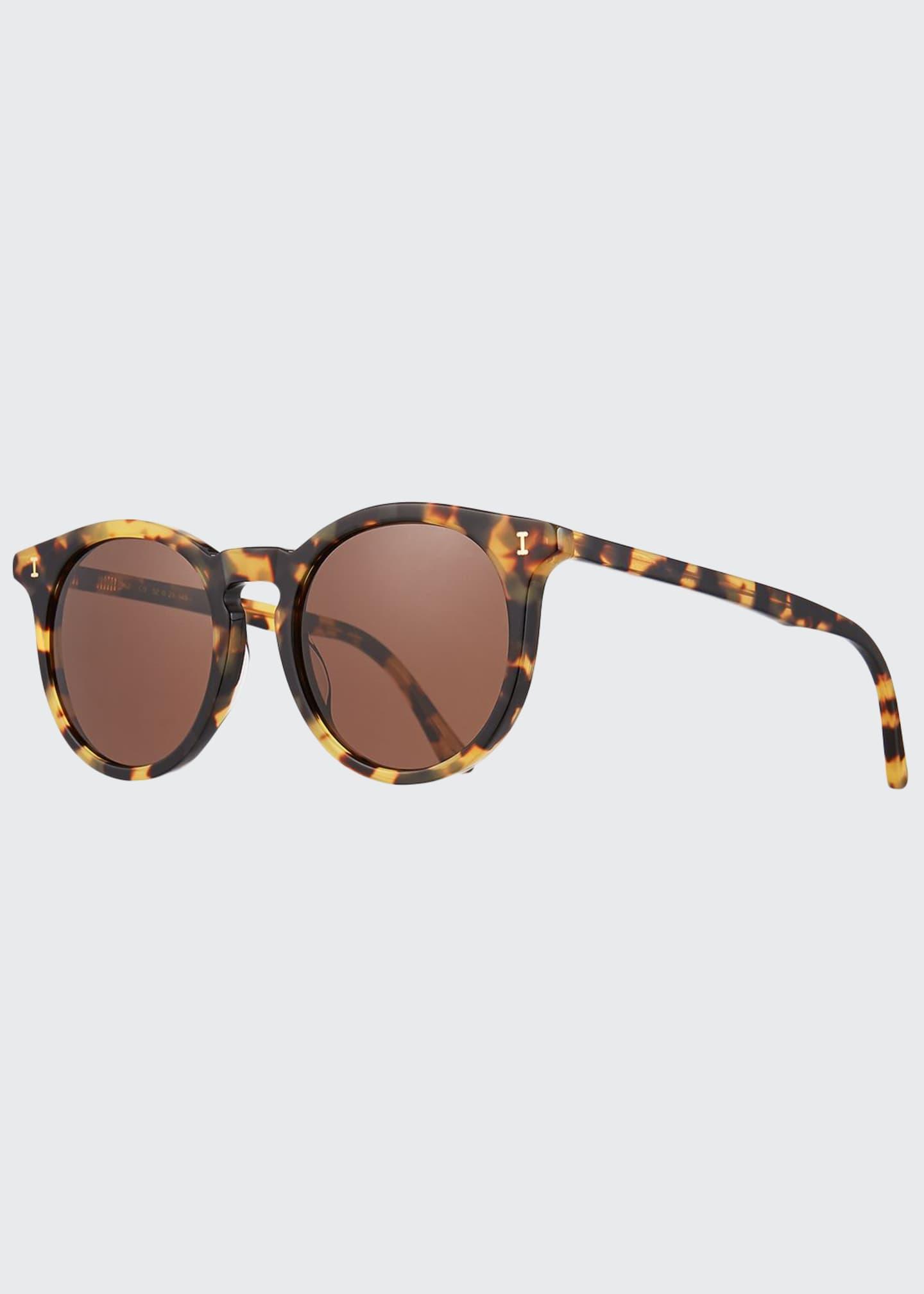 Illesteva Sterling II Round Transparent Acetate Sunglasses