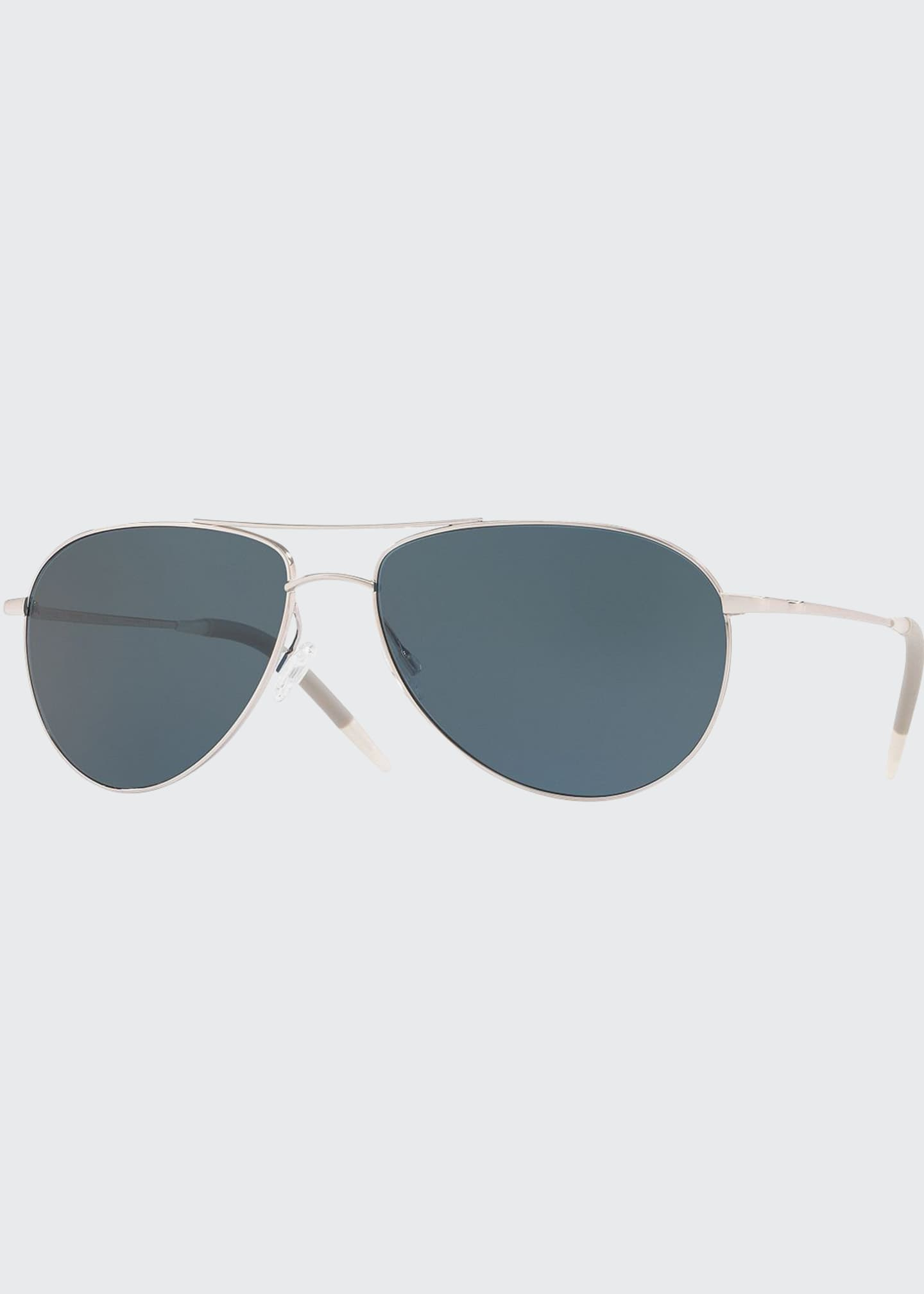 Image 1 of 2: Men's Benedict 59 Aviator Sunglasses - Polarized Lenses