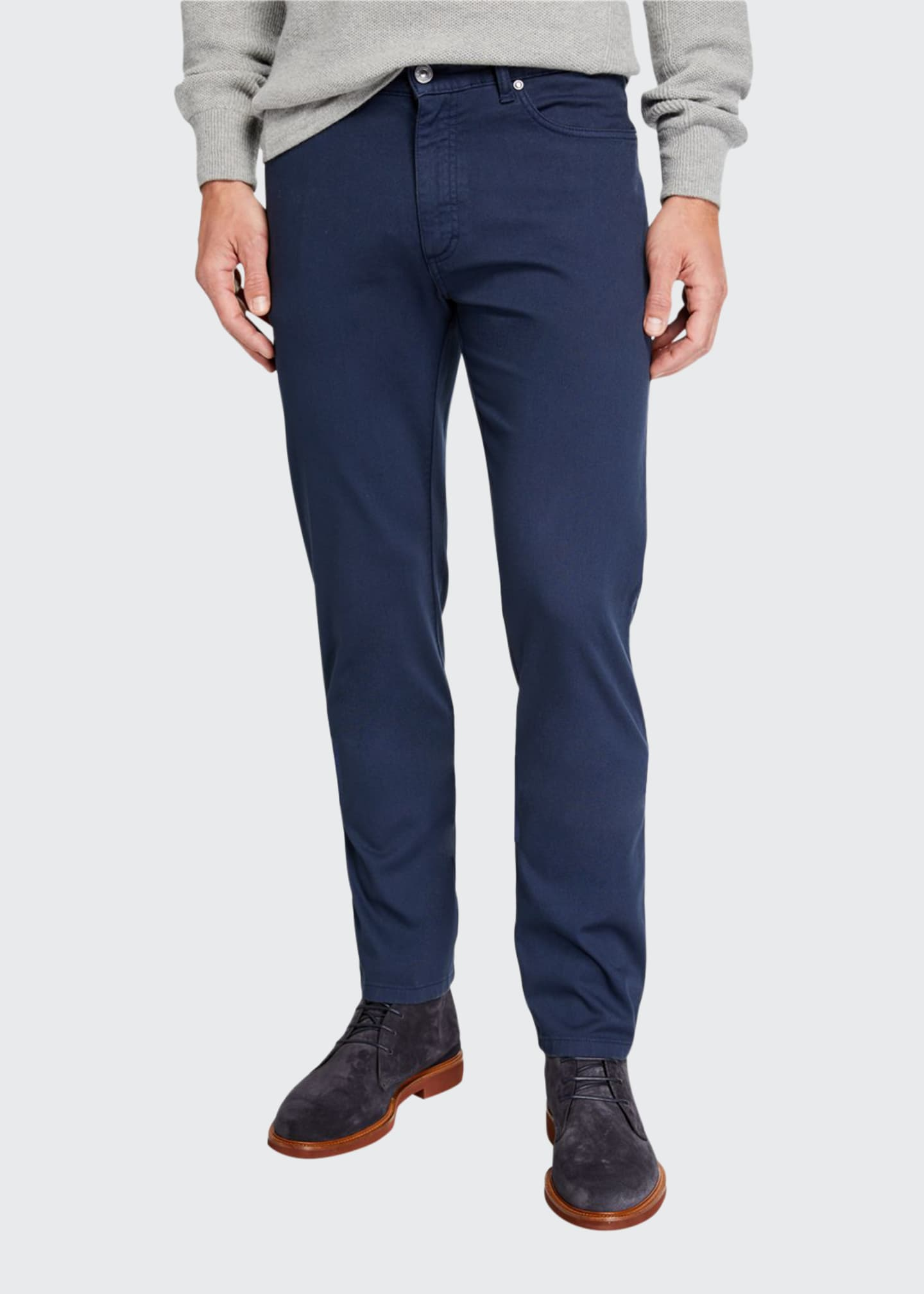 Image 1 of 3: Men's 5-Pocket Twill Regular-Fit Pants