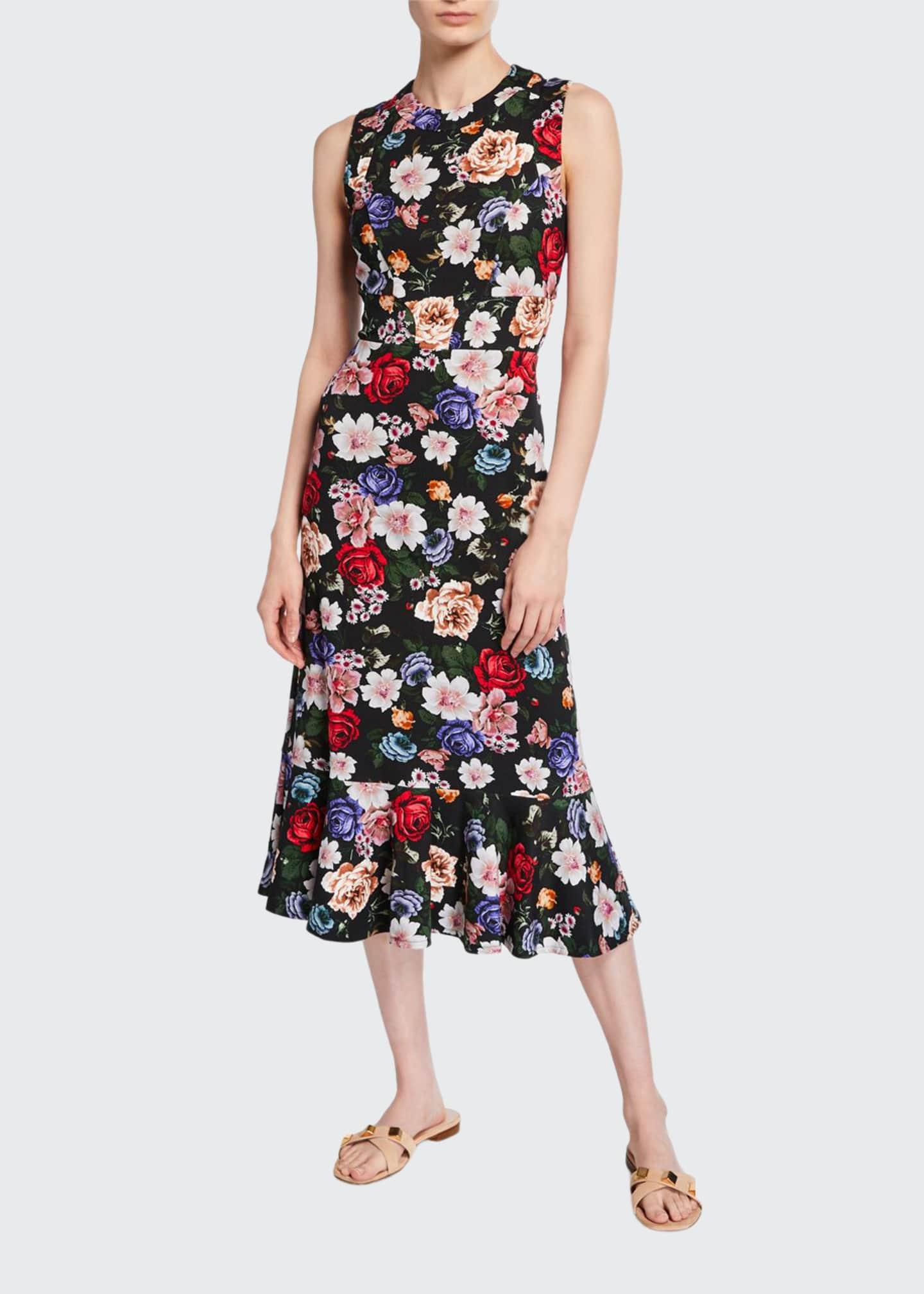 Erdem Grazia Floral Sleeveless Dress