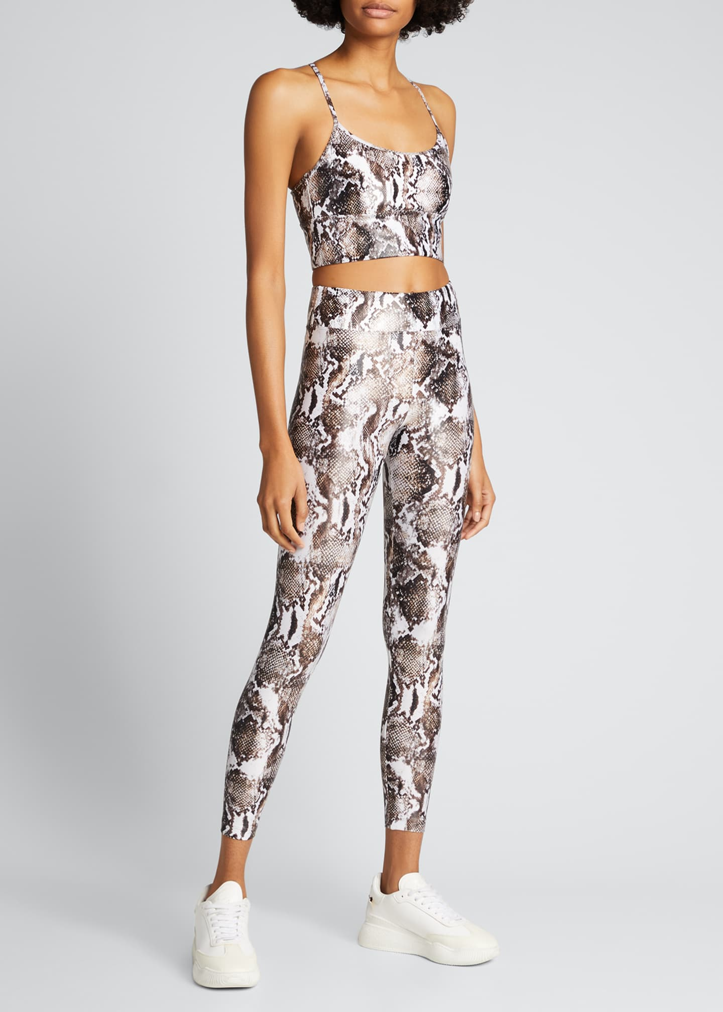 Image 1 of 3: Lustrous High-Rise Camo-Print Leggings