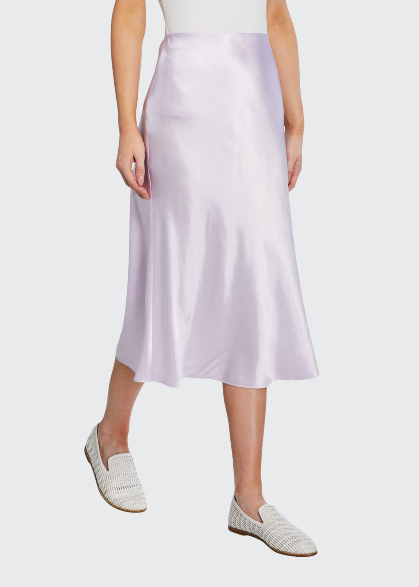 Image 1 of 3: Midi Satin Slip Skirt