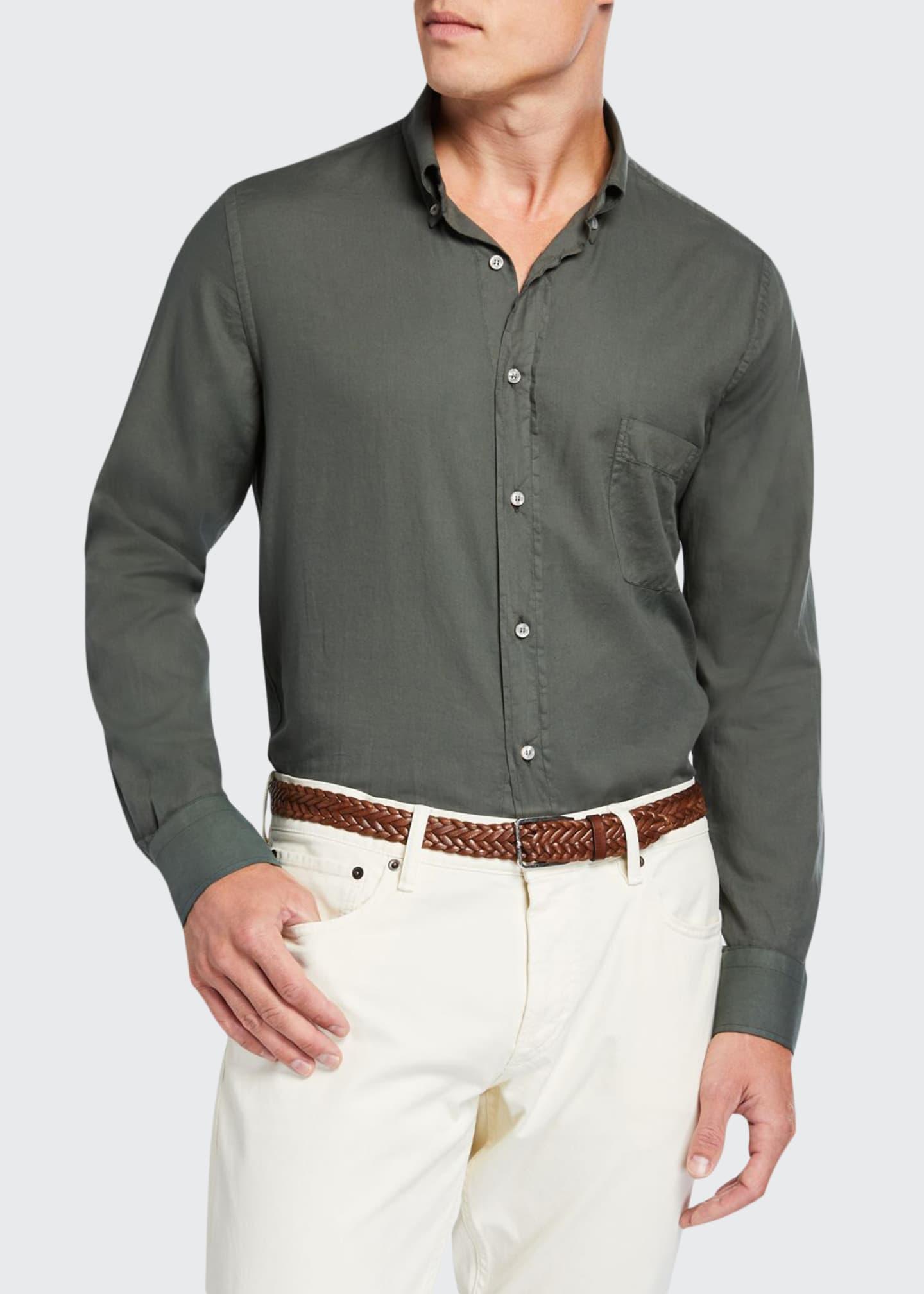 Loro Piana Men's Alfred Pocket Sport Shirt