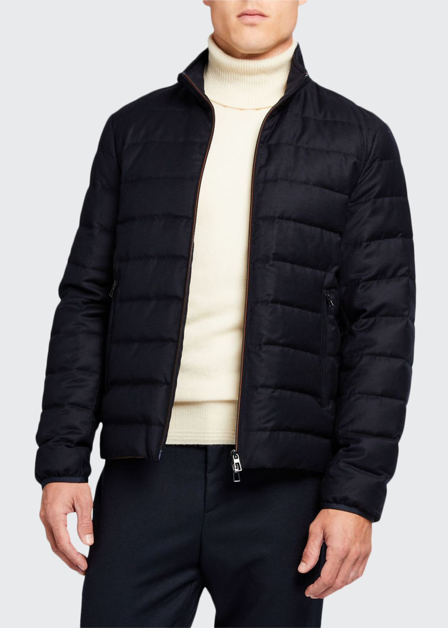 Loro Piana Men's Zip-Front Puffer Jacket