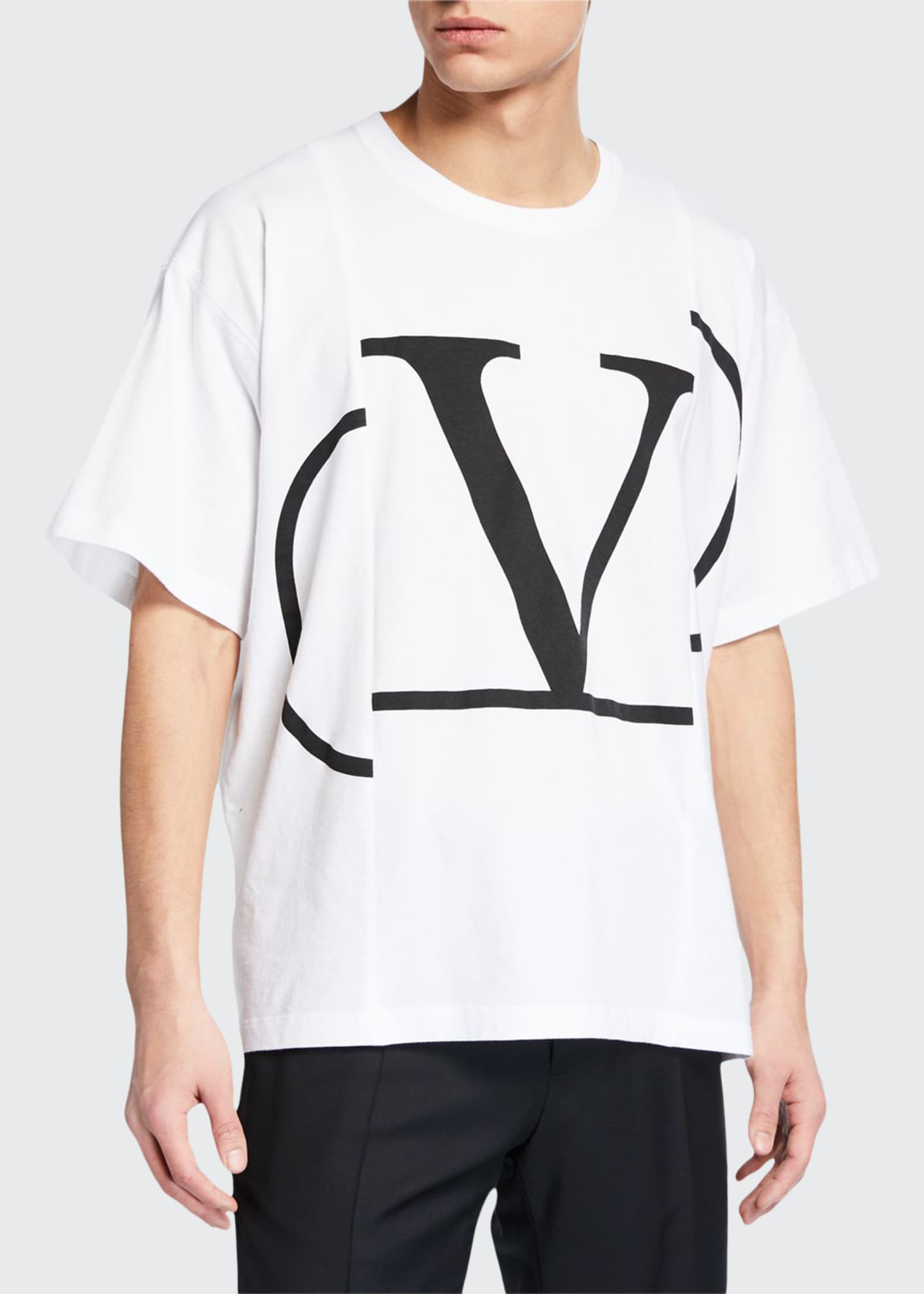Image 1 of 2: Men's Large-Logo Graphic T-Shirt