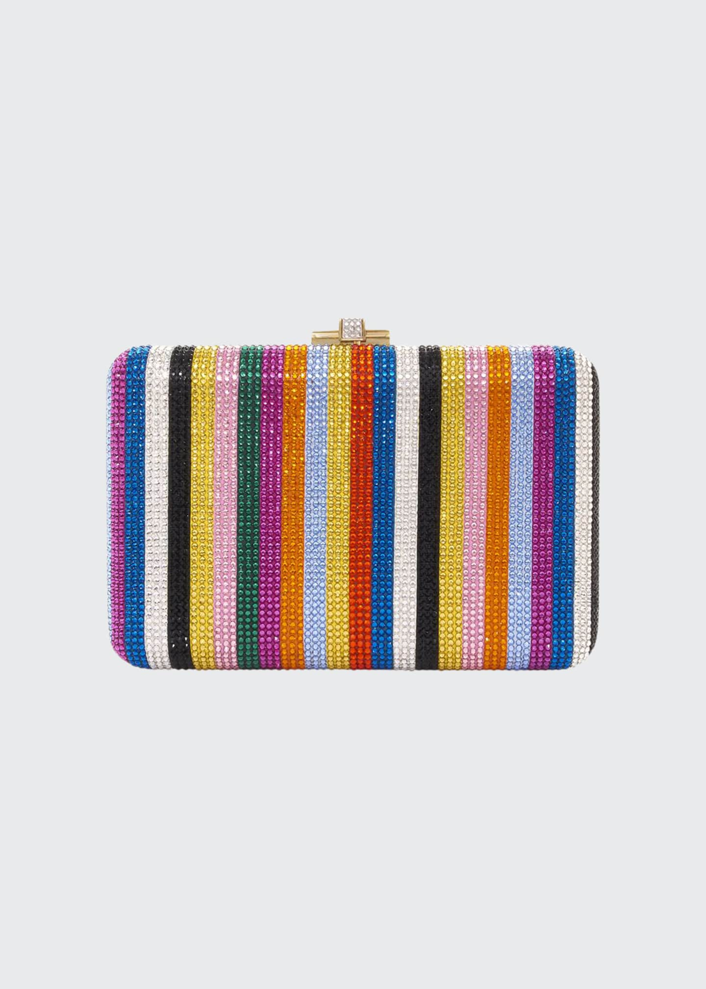 Judith Leiber Couture Candy Stripes Slim Clutch Bag