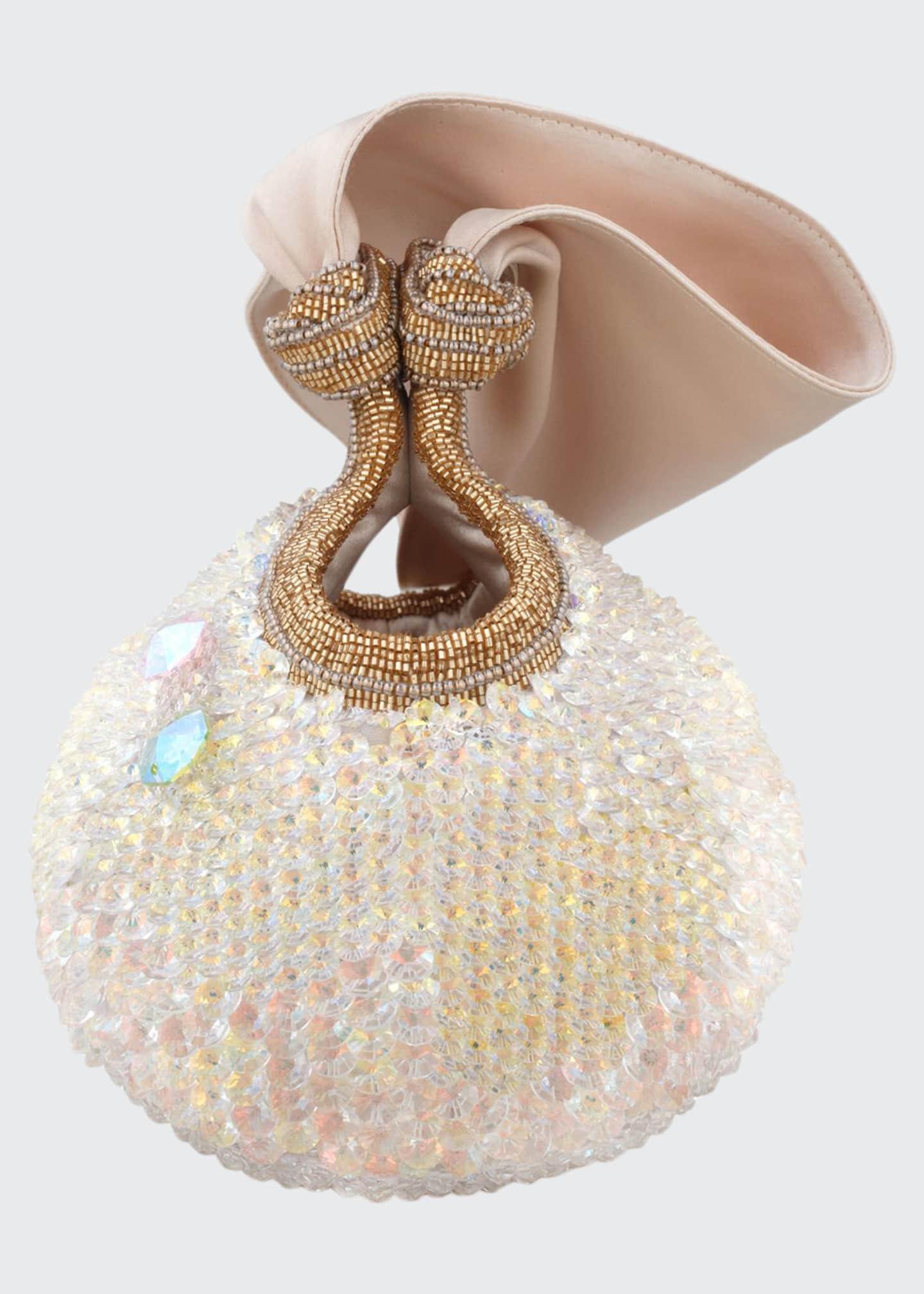Bea Valdes Bella Lily Crystal Ball Clutch Bag