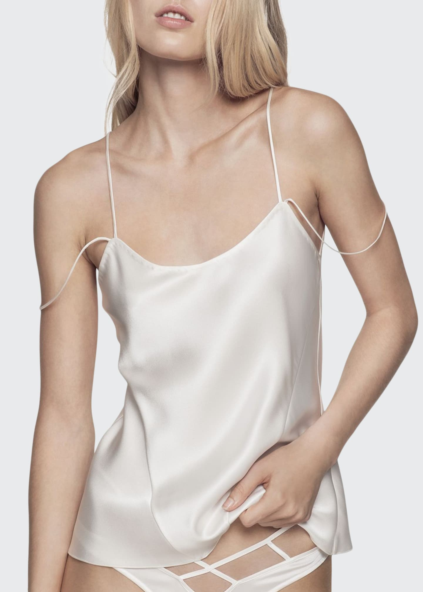 Image 1 of 2: Cage Silk Camisole