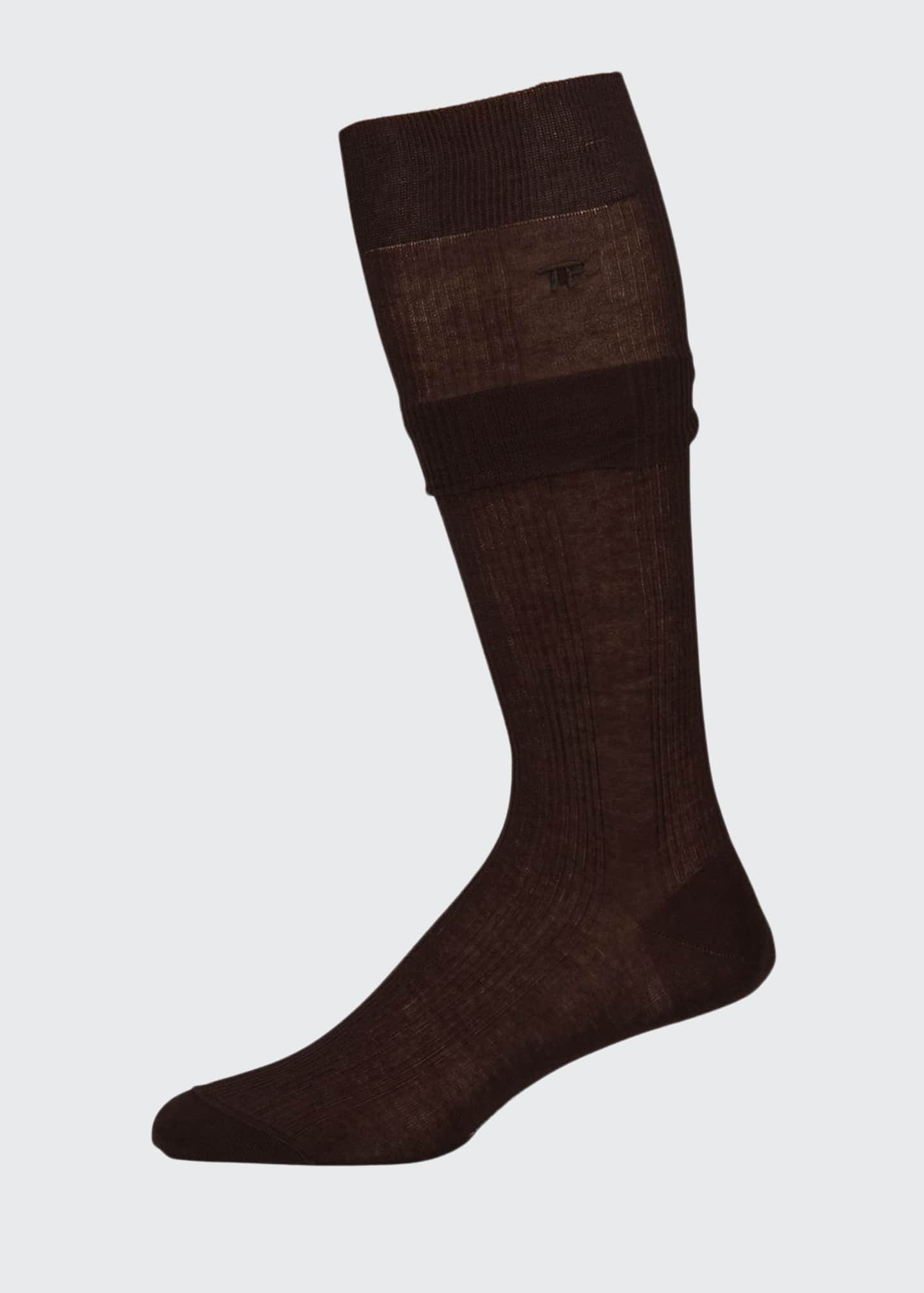 Image 1 of 1: Men's Ribbed Mid-Calf Socks
