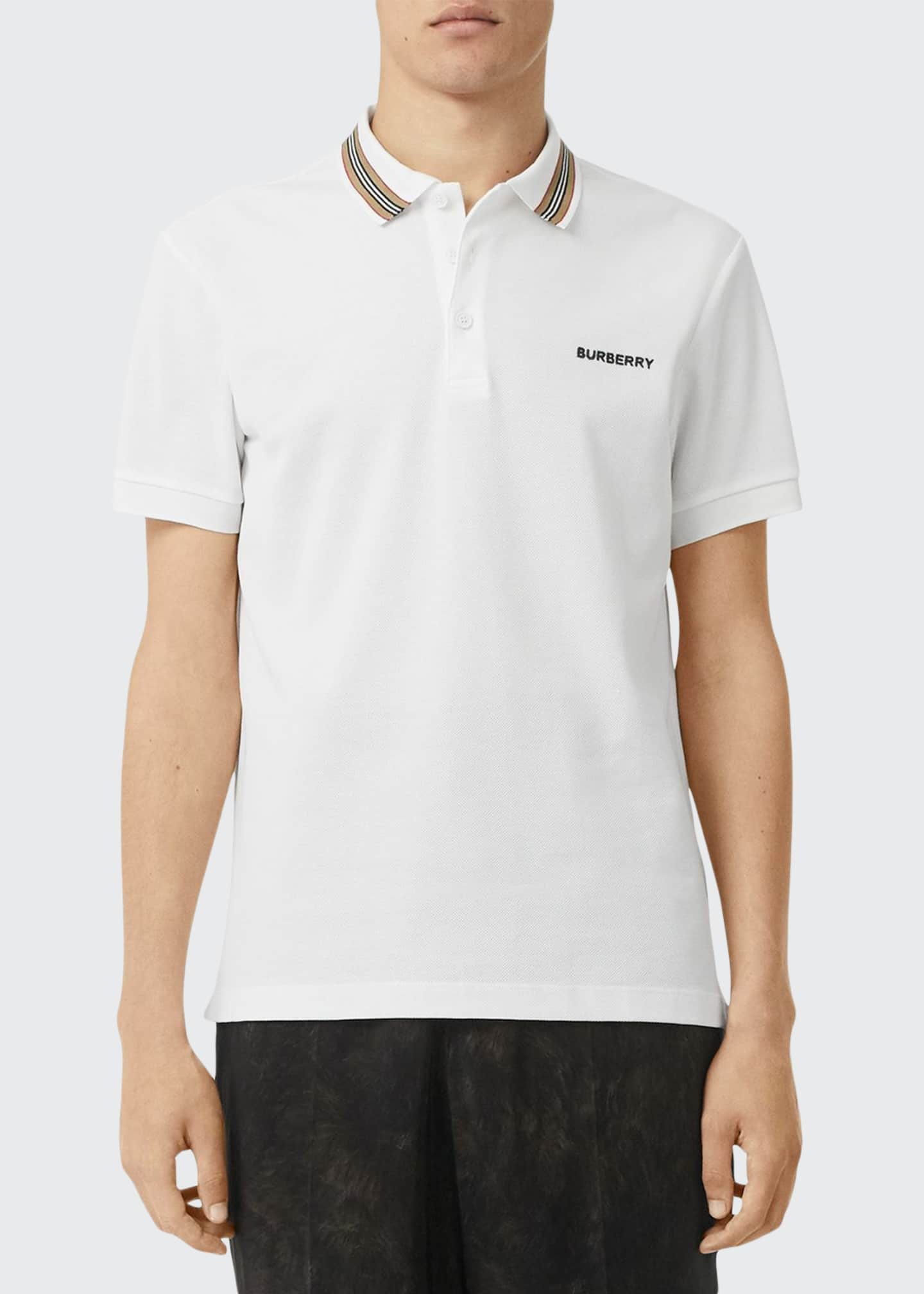 Image 1 of 4: Men's Johnston Contrast-Trim Polo Shirt