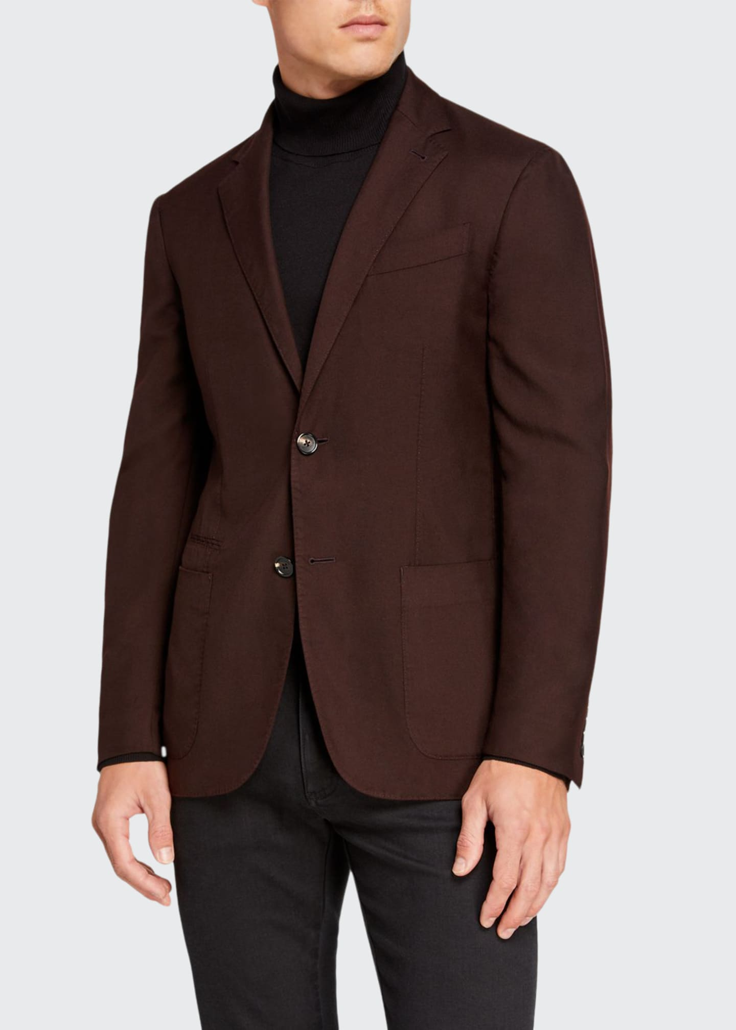 Image 1 of 3: Men's Cashmere/Silk Two-Button Regular-Fit Jacket
