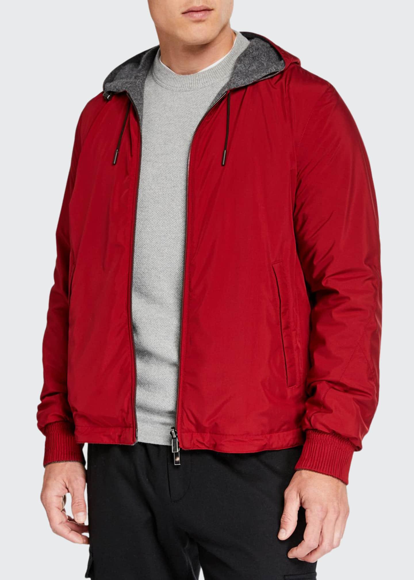 Ermenegildo Zegna Men's Breeze Breaker Wind-Resistant Jacket