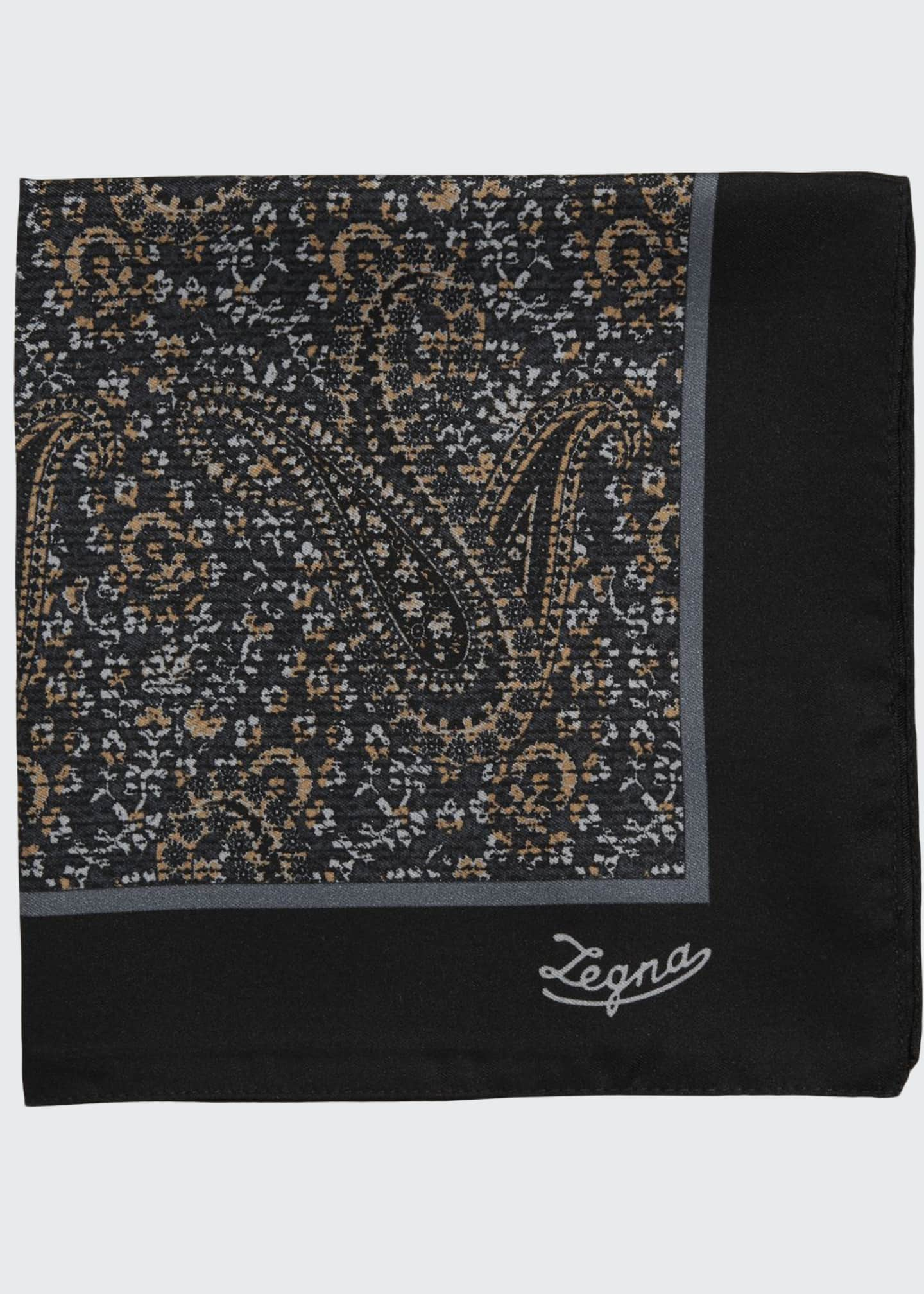 Ermenegildo Zegna Antique Paisley Pocket Square