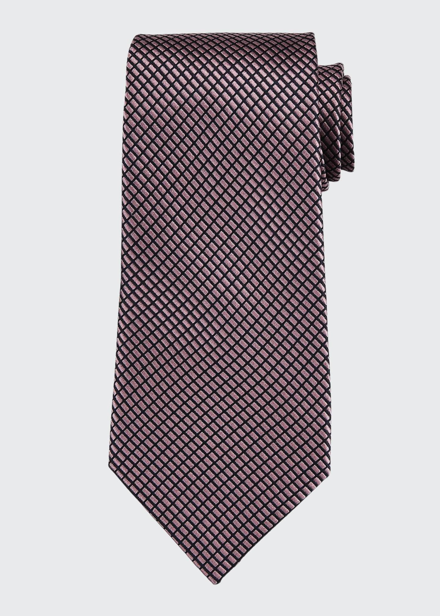 Image 1 of 1: Screen Weave Silk Tie