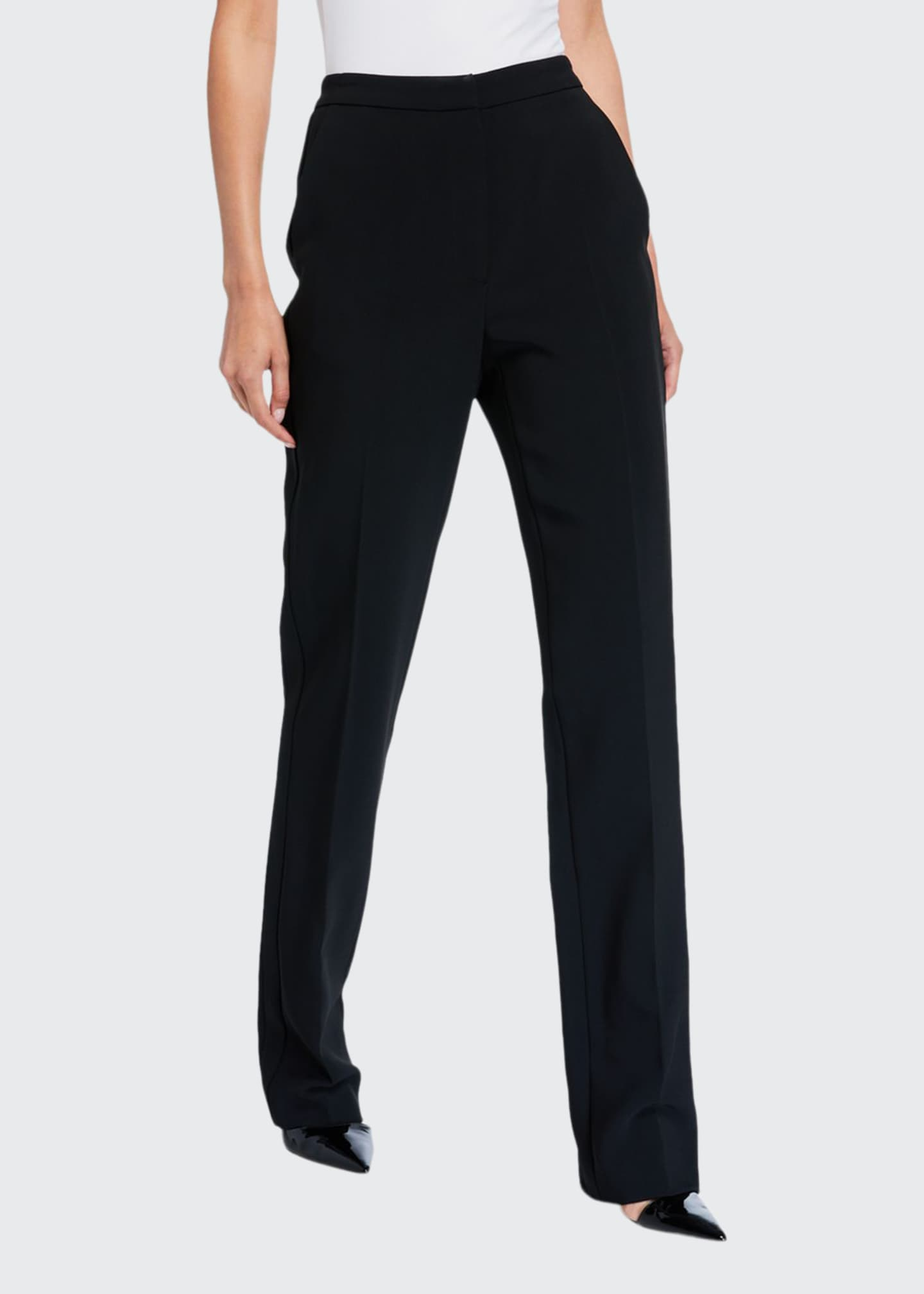 Image 1 of 3: High-Rise Straight-Leg Pants