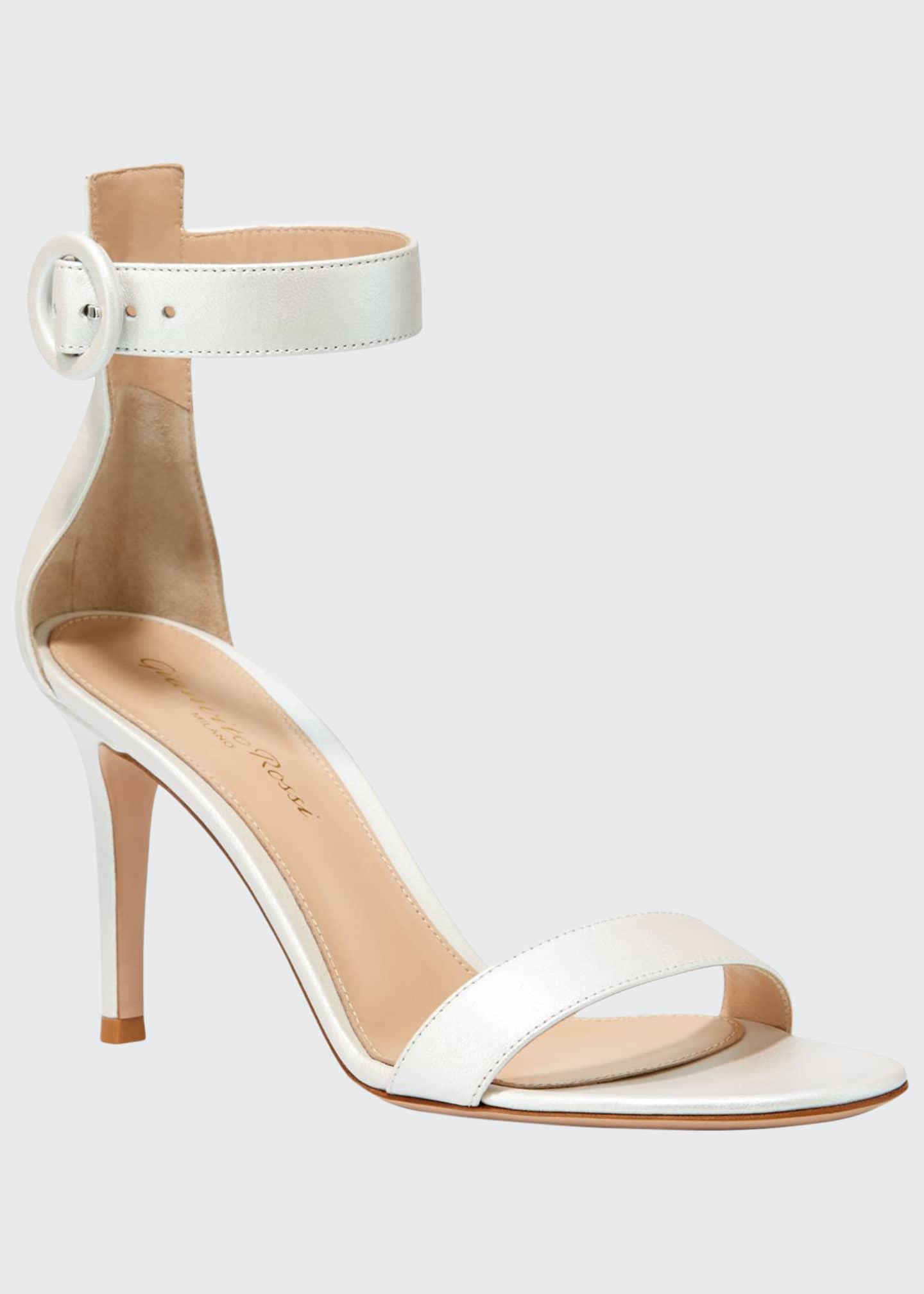 Gianvito Rossi Aurora Portofino Pearlescent Ankle-Strap Sandals