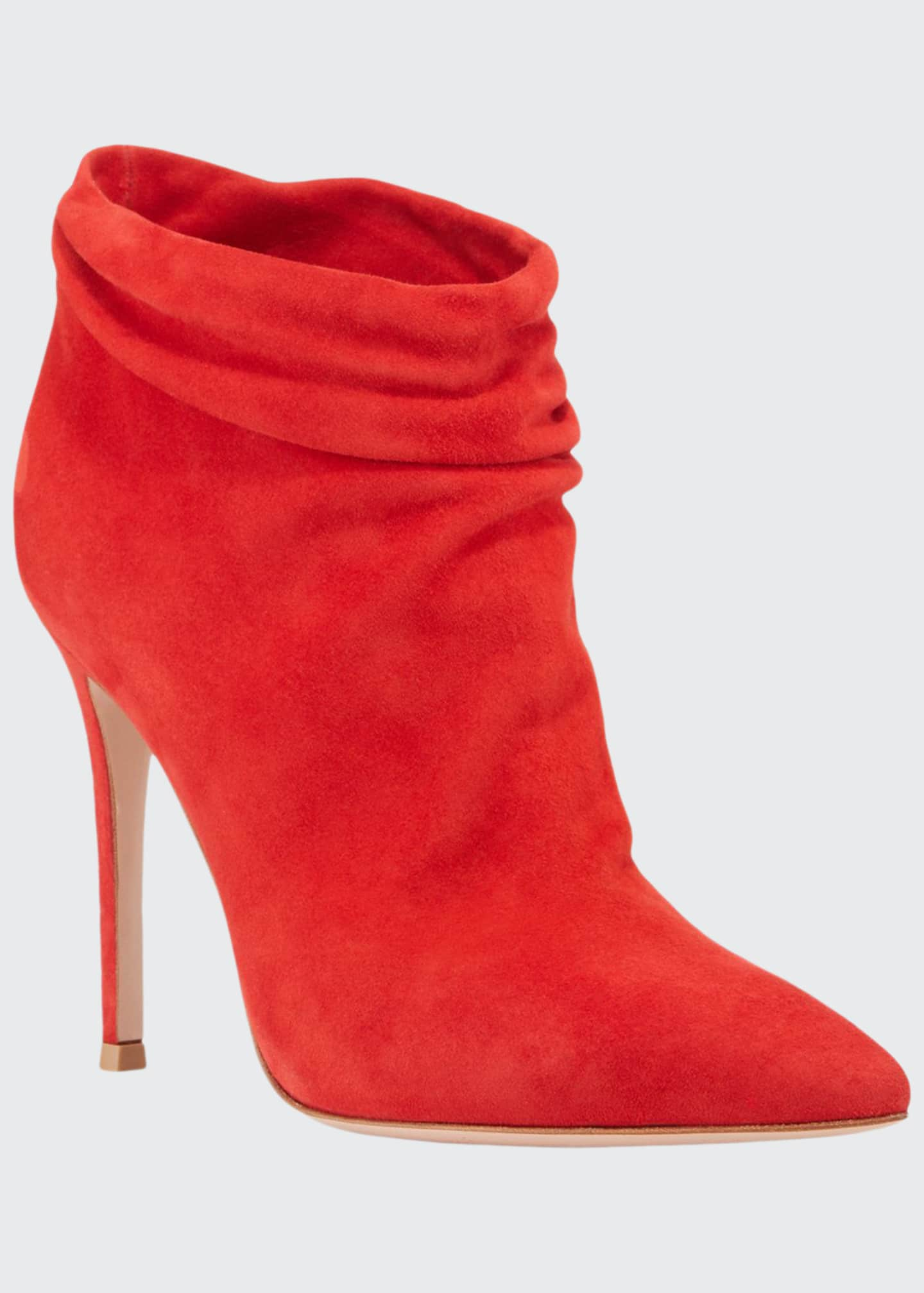 Image 1 of 3: Slouchy Suede Ankle Booties