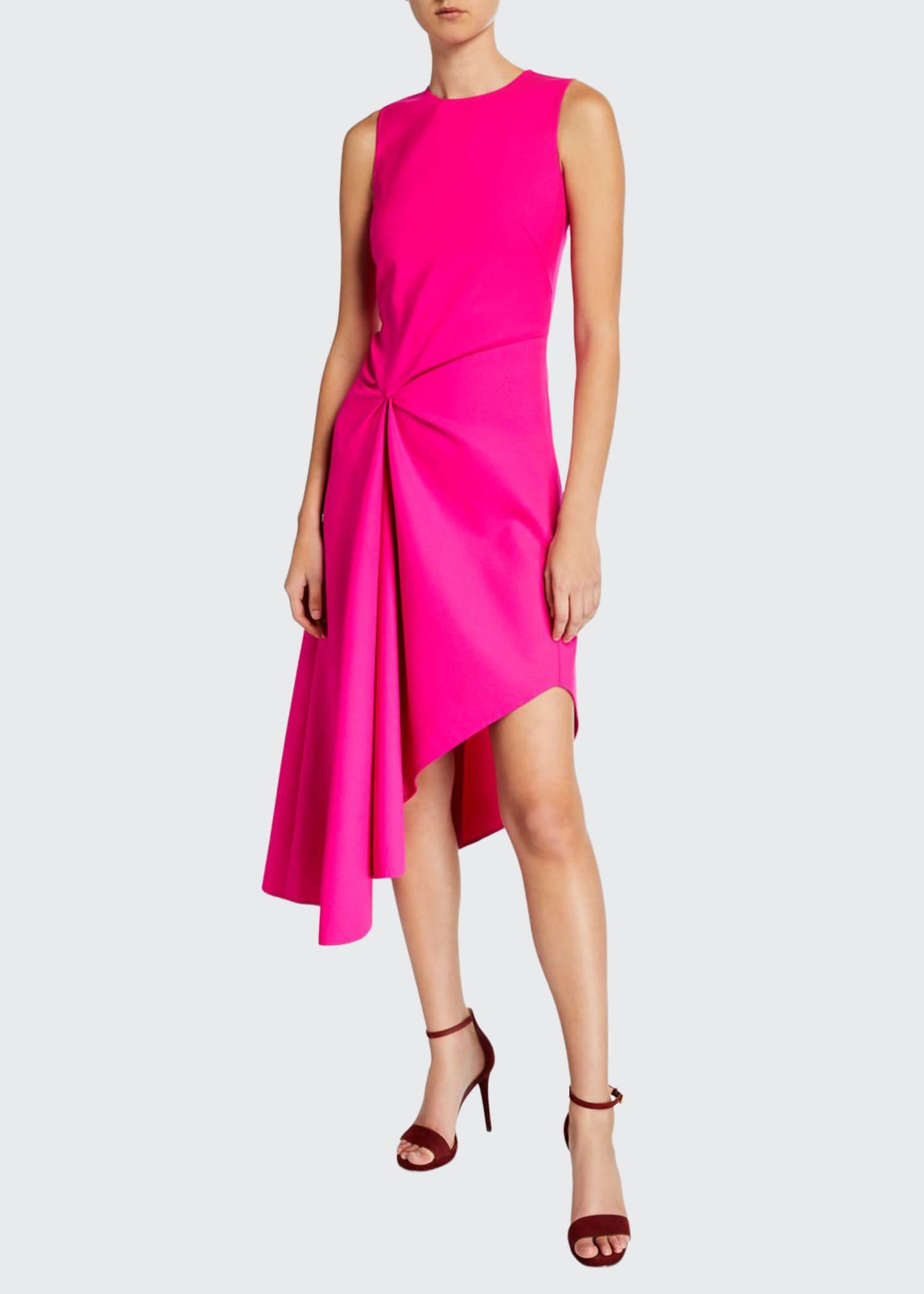 Oscar de la Renta Knotted Crepe Midi Dress