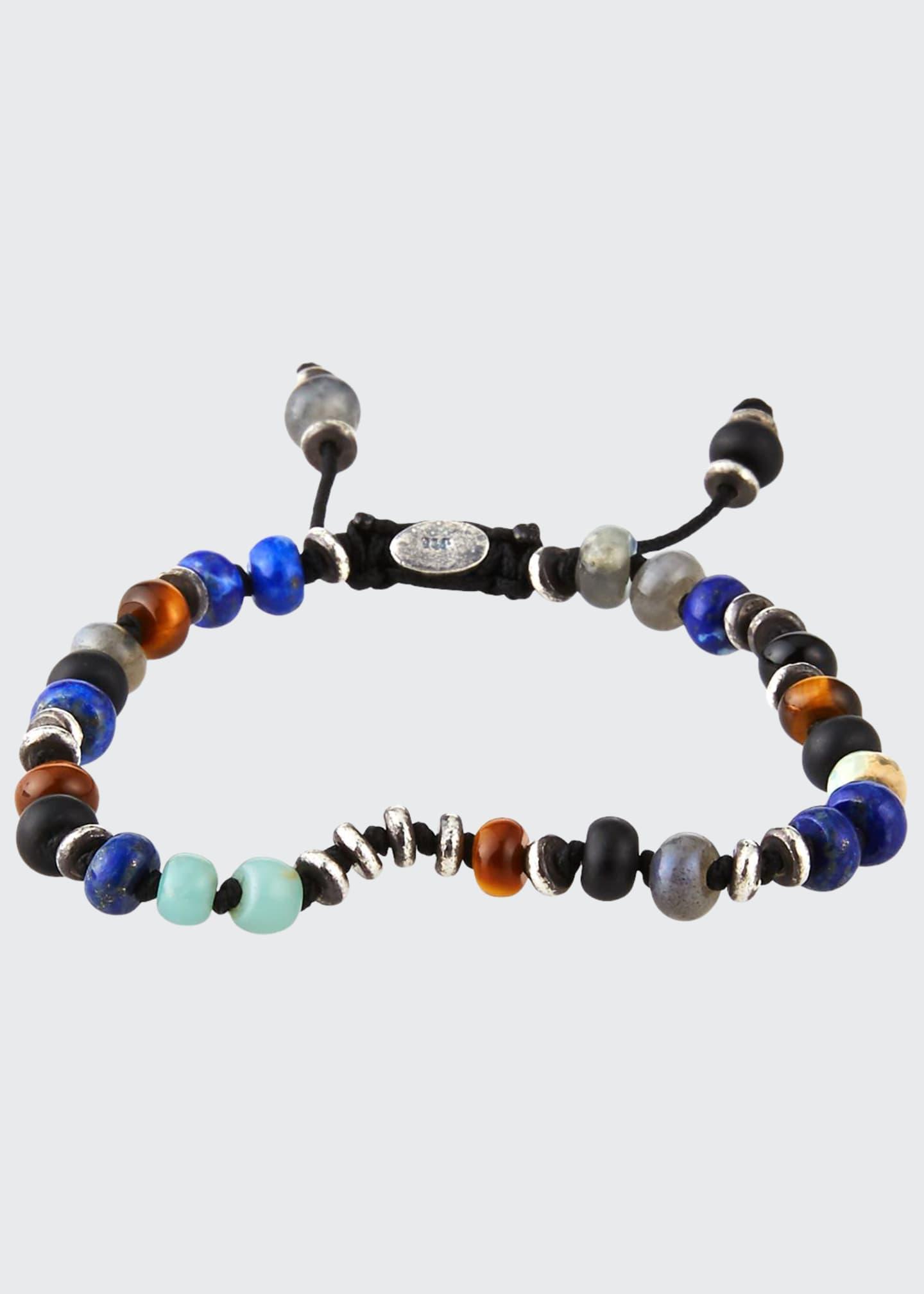 M. Cohen Men's Templar Jointed Gemstone Bracelet, Multicolor