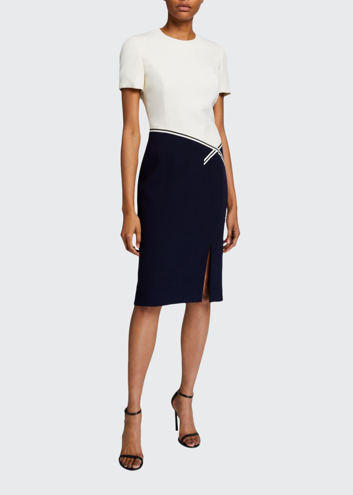 Atelier Caito for Herve Pierre Colorblocked Bodycon Dress