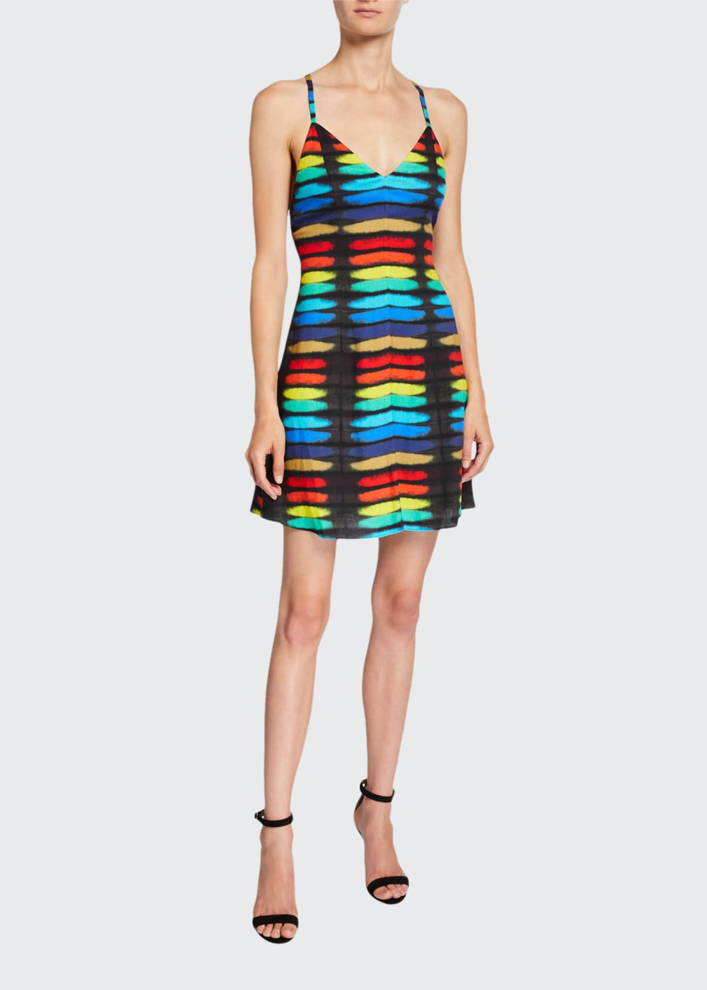 Alice + Olivia Alves Cross-Back Flare Dress