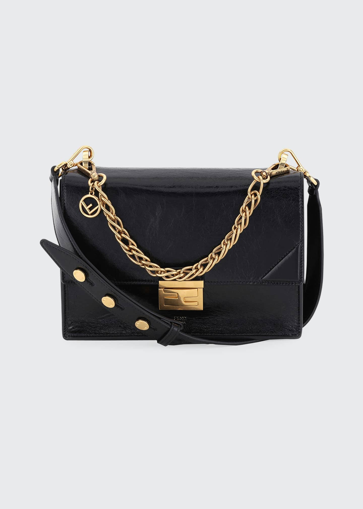 Fendi Grace Kan Calf Matte Shoulder Bag