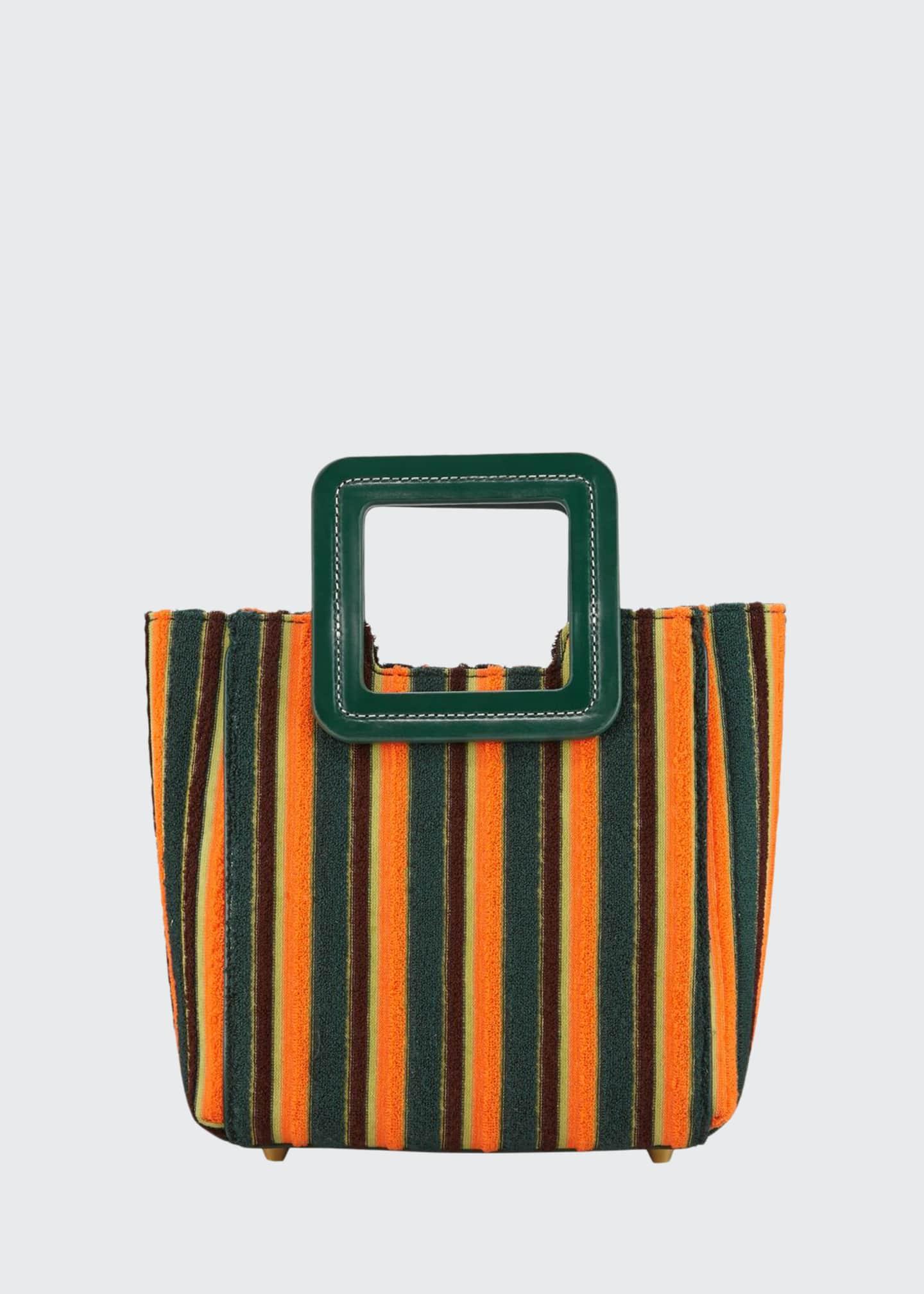 Staud Shirley Stripe Fabric Mini Tote Bag