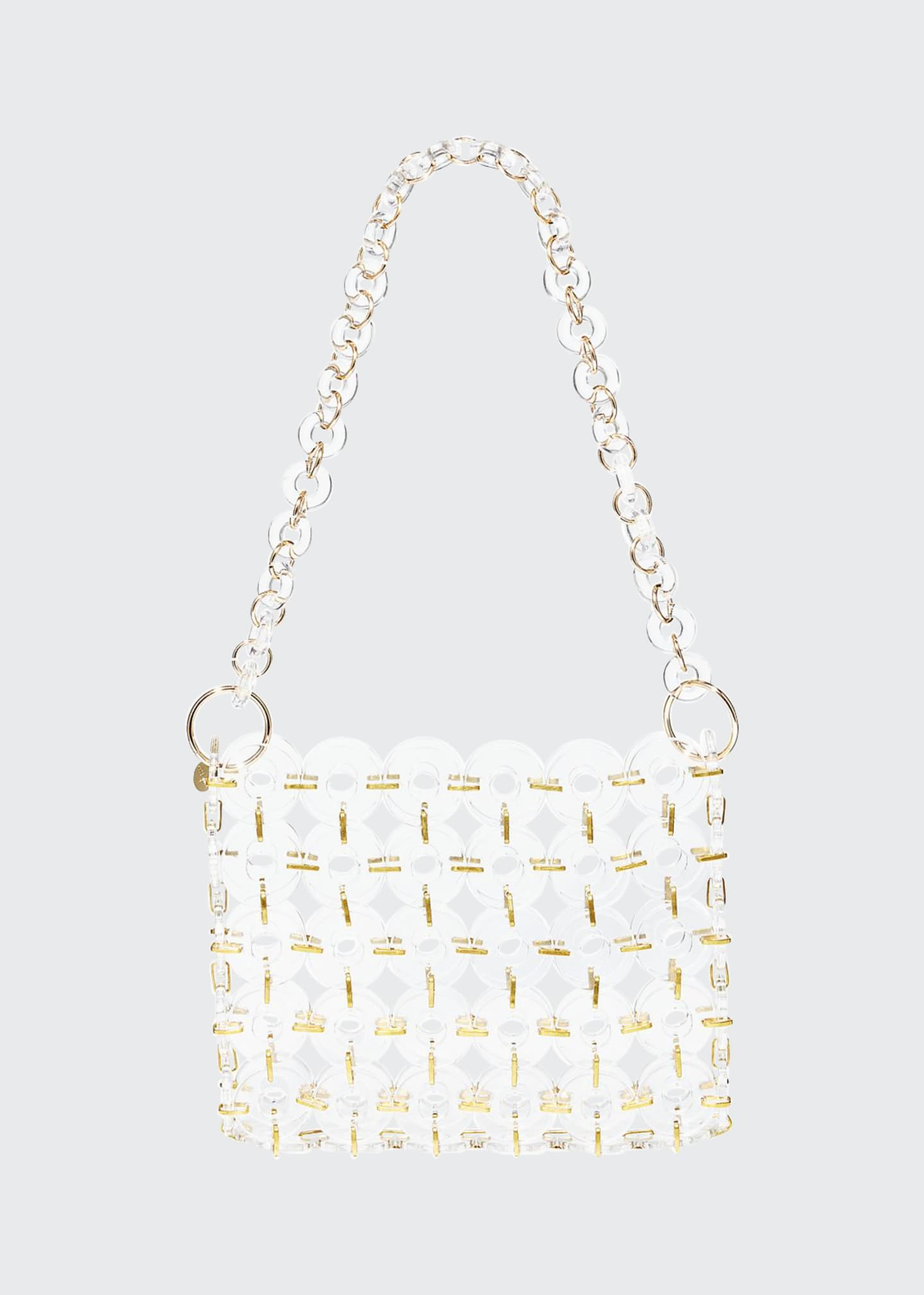 Cult Gaia Jasmin Acrylic Ring Shoulder Bag