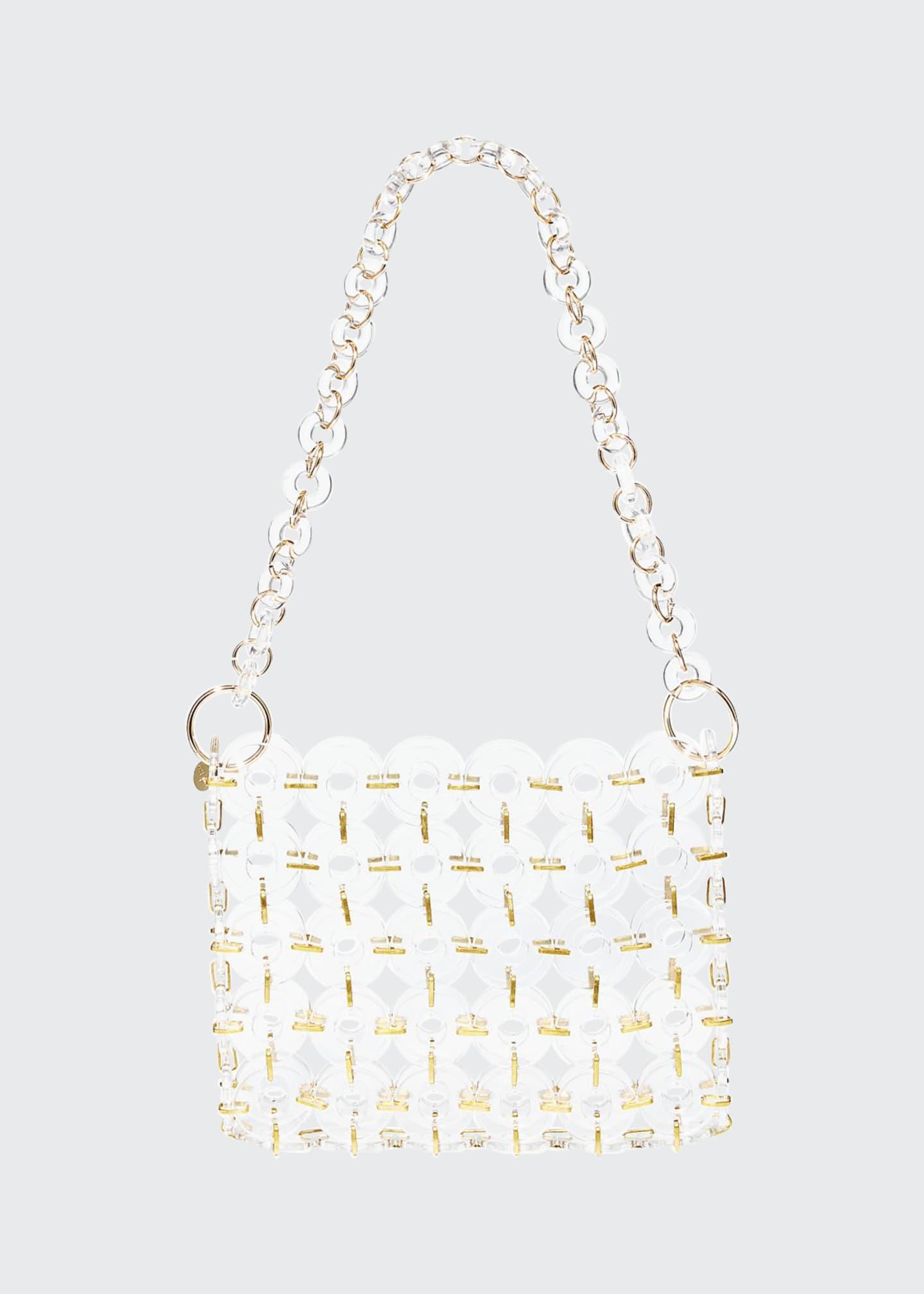 Cult Gaia Jasmin Acrylic Ring Shoulder Bag