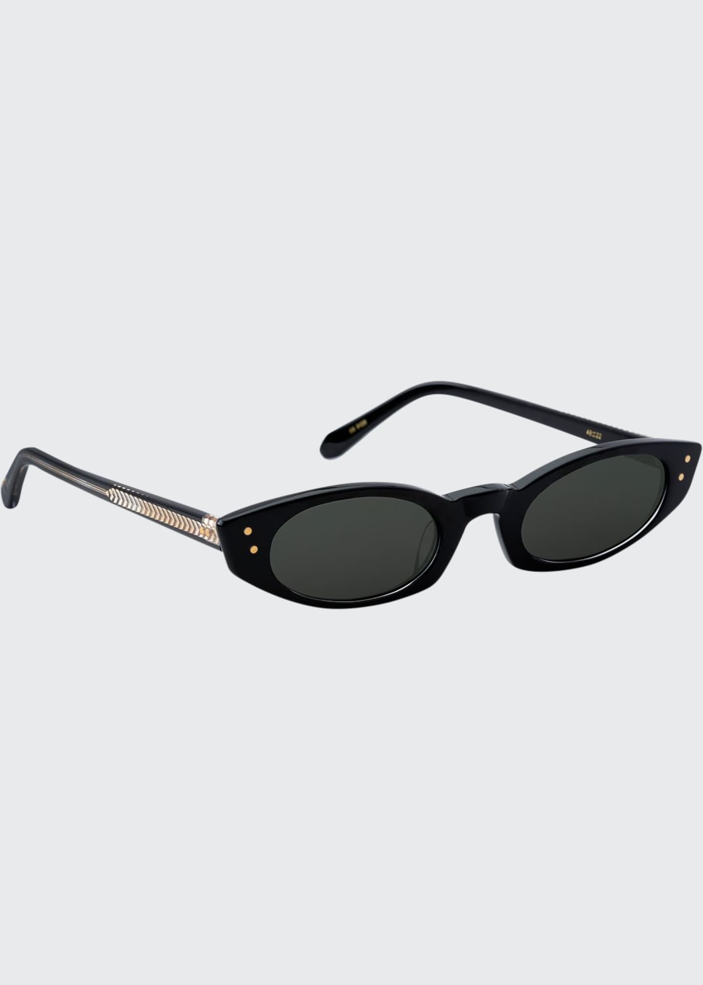 Image 1 of 2: Fern Cat-Eye Sunglasses