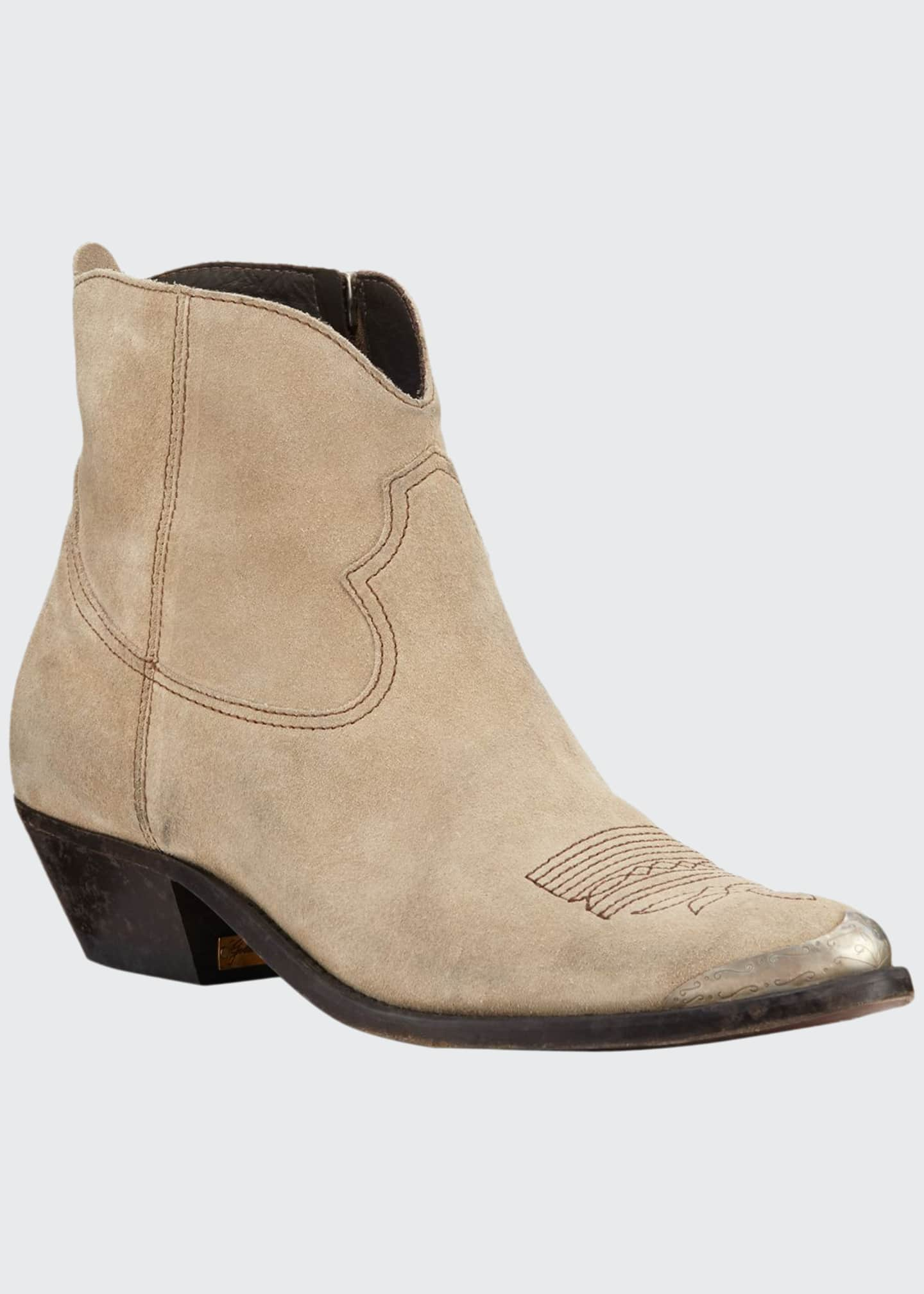 Golden Goose Young Suede Western Boots
