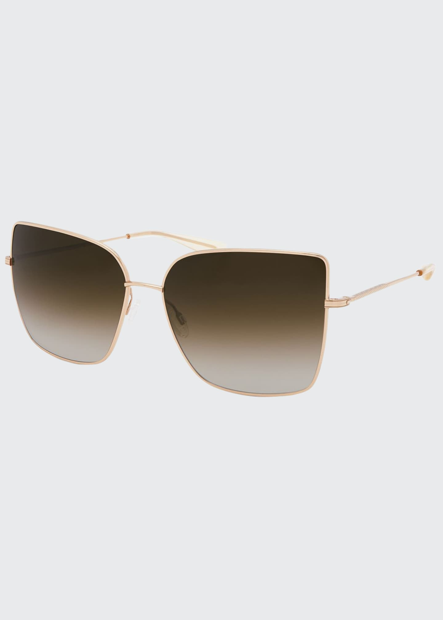 Image 1 of 1: Mystere Rectangle Titanium Sunglasses